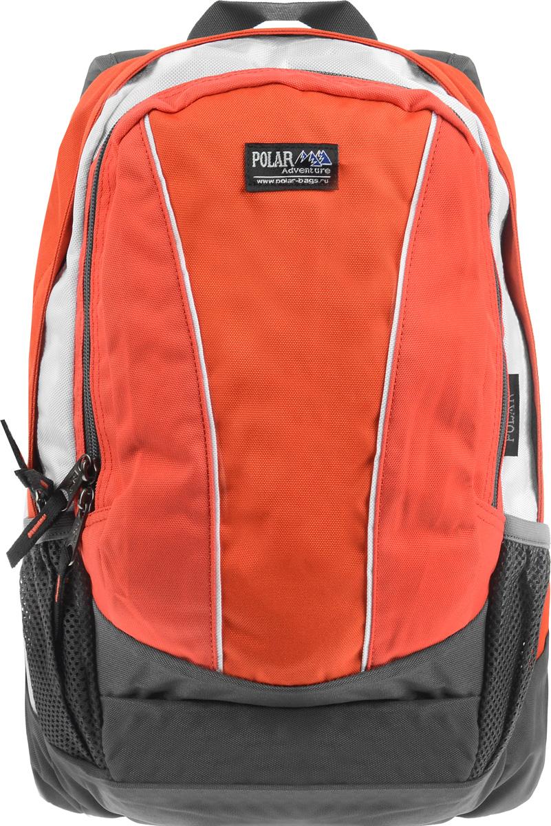 Рюкзак городской Polar, 15 л. ТК1015-02MABLSEH10001Женский городской рюкзак Polar с модным дизайном очень функционален и практичен. Рюкзак имеет 2 отделения, закрывающиеся на застежки-молнии, которые отлично подойдут для персональных вещей и документов A4. Основное отделение имеет один накладной карман. Спереди расположено объемное отделение с накладным карманом для мелких принадлежностей, пластиковым карабином для ключей и сетчатым кармашком на молнии. Также по бокам имеются два кармана на молнии для mp3, CD плеера и два кармана на резинке, предназначенные для бутылки с водой. Полностью вентилируемая и удобная мягкая спинка, а также мягкие плечевые лямки регулируемой длины создают дополнительный комфорт при носке.