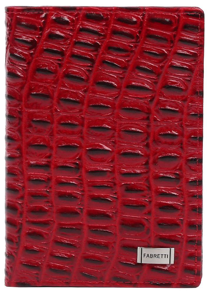 Обложка для документов женская Fabretti, цвет: красный. 54019-red coccoMWH5602/3Женская обложка для документов от итальянского бренда Fabretti выполнена из натуральной фактурной кожи, с тиснением под крокодила. Внутри изделия имеется дополнительный вкладыш для документов и пять отделений, куда вы сможете поместить свои кредитные и дисконтные карты.