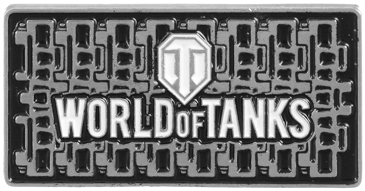 Значок World of Tanks Гусеница, цвет: серебряный. 1322Брелок для ключейЗначок Гусеница от World of Tanks изготовлен из цинкового сплава. Значок выполнен в виде таблички с надписью Word of Tanks. Крепится изделие с помощью застежек-гвоздиков.Значок - это важный аксессуар истинного игрока.