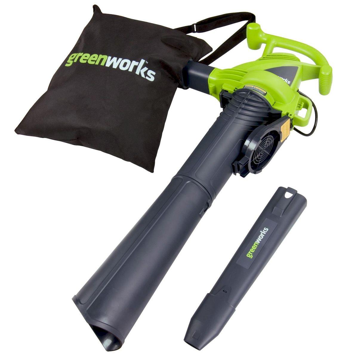 Воздуходув-пылесос электрический Greenworks