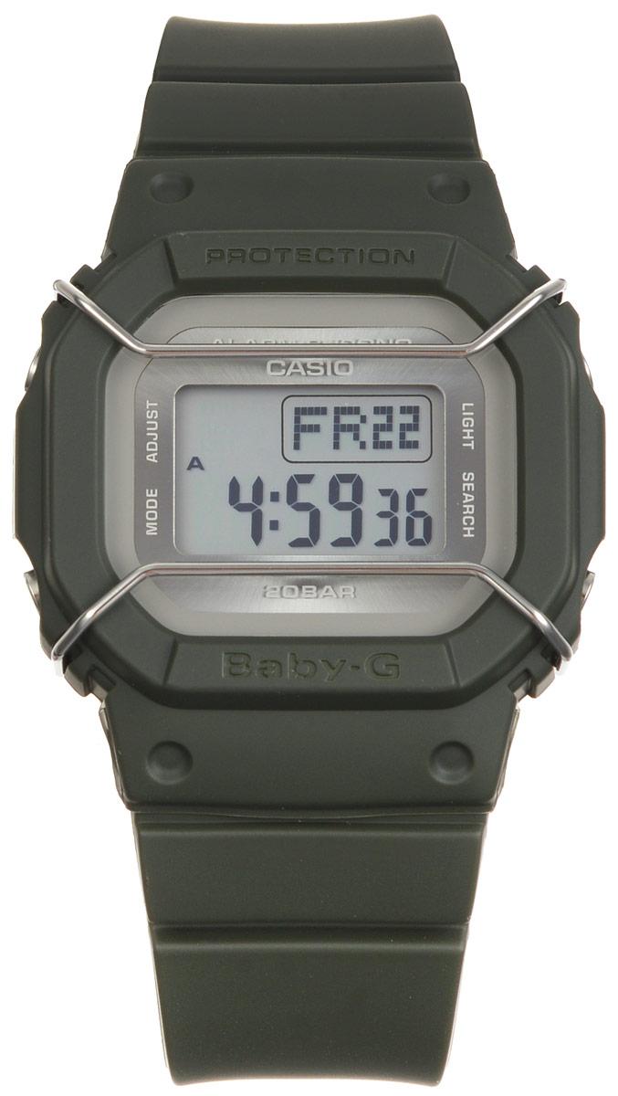 Часы наручные Casio Baby-G, цвет: темно-зеленый. BGD-501UM-3EBM8434-58AEМногофункциональные часы Casio Baby-G, выполнены из минерального стекла и полимерного материала. Часы оформлены символикой бренда.Электронные часы оснащены имеют степень влагозащиты равную 20 BAR.Браслет часов оснащен застежкой-пряжкой, которая позволит с легкостью снимать и надевать изделие. Циферблат часов оснащен электролюминесцентной подсветкой.Дополнительные функции: таймер, будильник, функция повтора будильника, секундомер, функция мирового времени, автоматический календарь.Часы поставляются в фирменной упаковке.Многофункциональные часы Casio Baby-G станут незаменимым аксессуаром.