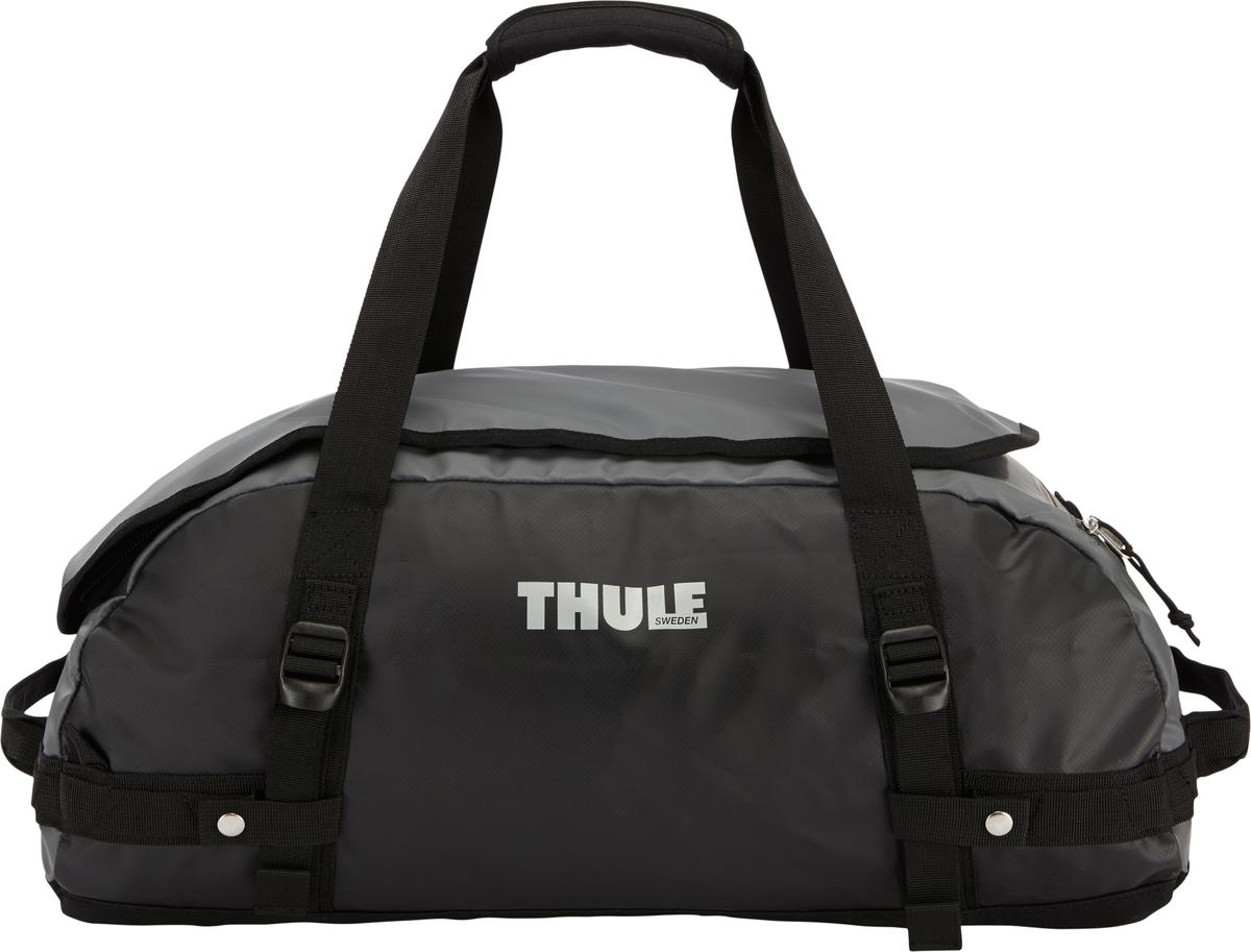 Туристическая сумка-баул Thule Chasm S, цвет: темно-серый, черный, 40 л201600Thule Chasm Small - эта жесткая, устойчивая к неблагоприятным погодным условиям сумка с широко раскрывающимся основным отделением и съемными ремнями — ваш надежный спутник в любой поездке. Широко раскрывающееся отделение делает загрузку оборудования в сумку очень удобным. Боковые замки делают доступ к основному отделению удобным с любого угла Ремни складываются вдоль боковых сторон сумки. Ремни быстро превращают рюкзак в сумку. Прочная водонепроницаемая брезентовая ткань для удобной укладки вещей, которая легко складывается для хранения. Внутренние сетчатые карманы сохранят ваши вещи в порядке. Внешние фиксирующие ремни предотвращают содержимое сумки от падения на дно, когда она используется как рюкзак. Уплотненная нижняя часть сумки обеспечивает мягкое соприкосновение с землей. Блокировка застежки-молнии для защиты от воров (замок продается отдельно). Внешний сетчатый карман для небольших предметов.Размер сумки: 56 x 32 x 25 см.