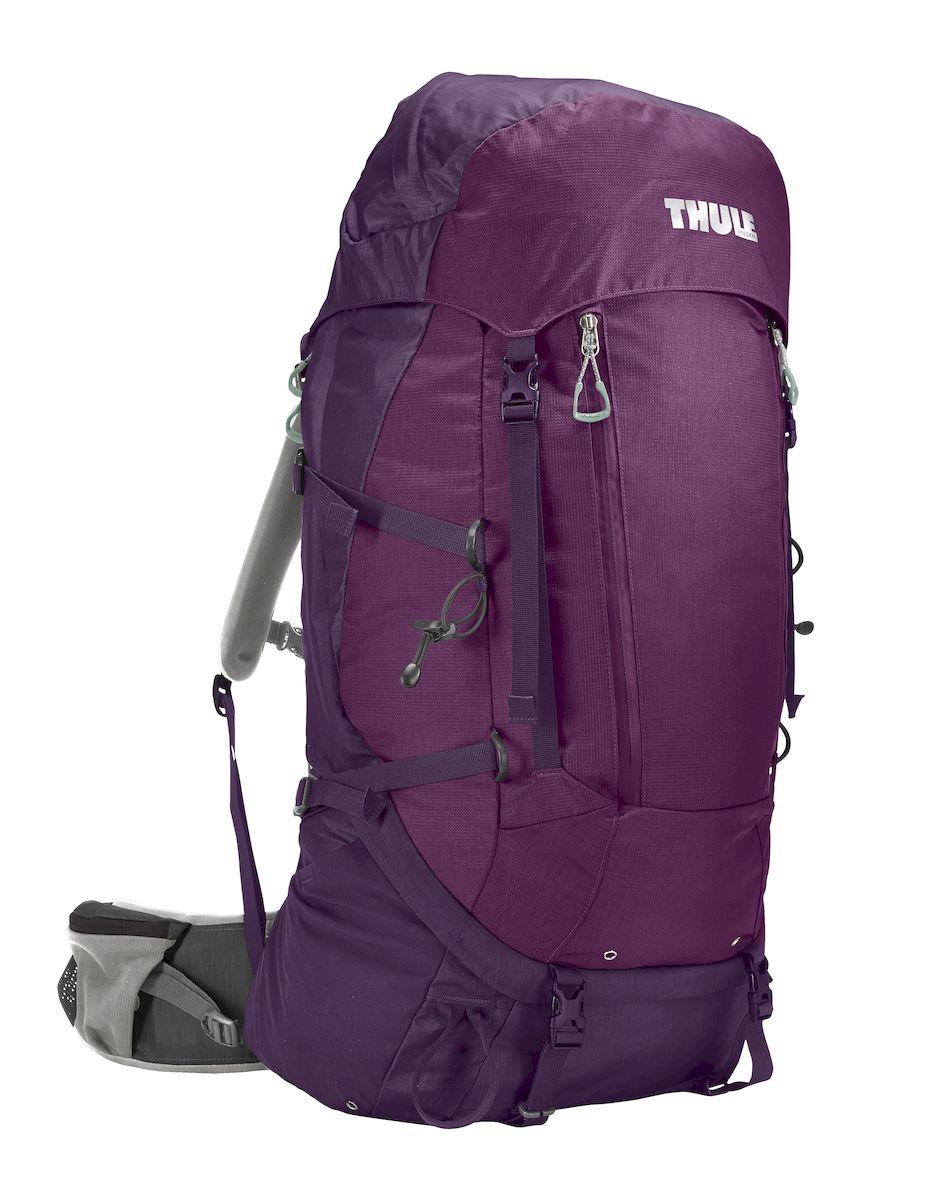 Рюкзак треккинговый женский Thule Guidepost, цвет: фиолетовый, 65 л206503Удобный треккинговый жеснкий рюкзак Thule Guidepost отличается настраиваемой системой крепления TransHub, обеспечивающей идеальную посадку, поворачивающимся набедренным ремнем, который позволяет рюкзаку повторять ваши движения, специальными наплечными и набедренными ремнями для женщин и крышкой, способной трансформироваться в дополнительный рюкзак, который поможет вам покорить любую вершину.Легкая регулировка ремней для торса на 15 см обеспечивает идеальную посадку, а наплечные ремни QuickFit позволяют выбрать из один из трех вариантов длины наплечных ремней. Система крепления Transhub с алюминиевой опорой и проволочным каркасом из пружинной стали позволяют перенести вес рюкзака на бедра, обеспечивая более удобную переноску. Поворачивающийся набедренный ремень позволяет рюкзаку повторять ваши движения, обеспечивая большую естественность передвижения и улучшенный баланс. Съемная крышка трансформируется в просторный рюкзак 24 л, позволяя сочетать два рюкзака в одном. Удобный доступ к содержимому рюкзака благодаря большой J-образной застежке на молнии на боковой панели. Воздухопроницаемая задняя панель обеспечивает поддержку в главных точках соприкосновения, но при этом позволяет воздуху циркулировать и не дает вам потеть. Два больших передних кармана на застежках-молниях предназначены для хранения часто используемых предметов. Удобное хранение треккинговых палок или ледоруба при помощи двух петель-креплений. Два кармана на набедренном ремне с застежками-молниями и эластичные боковые карманы позволяют хранить бутылки, еду и другие мелкие предметы. Конструкция, предназначенная для хранения воды, включает внешний карман для бутылки с водой и обеспечивает удобный доступ к ней.