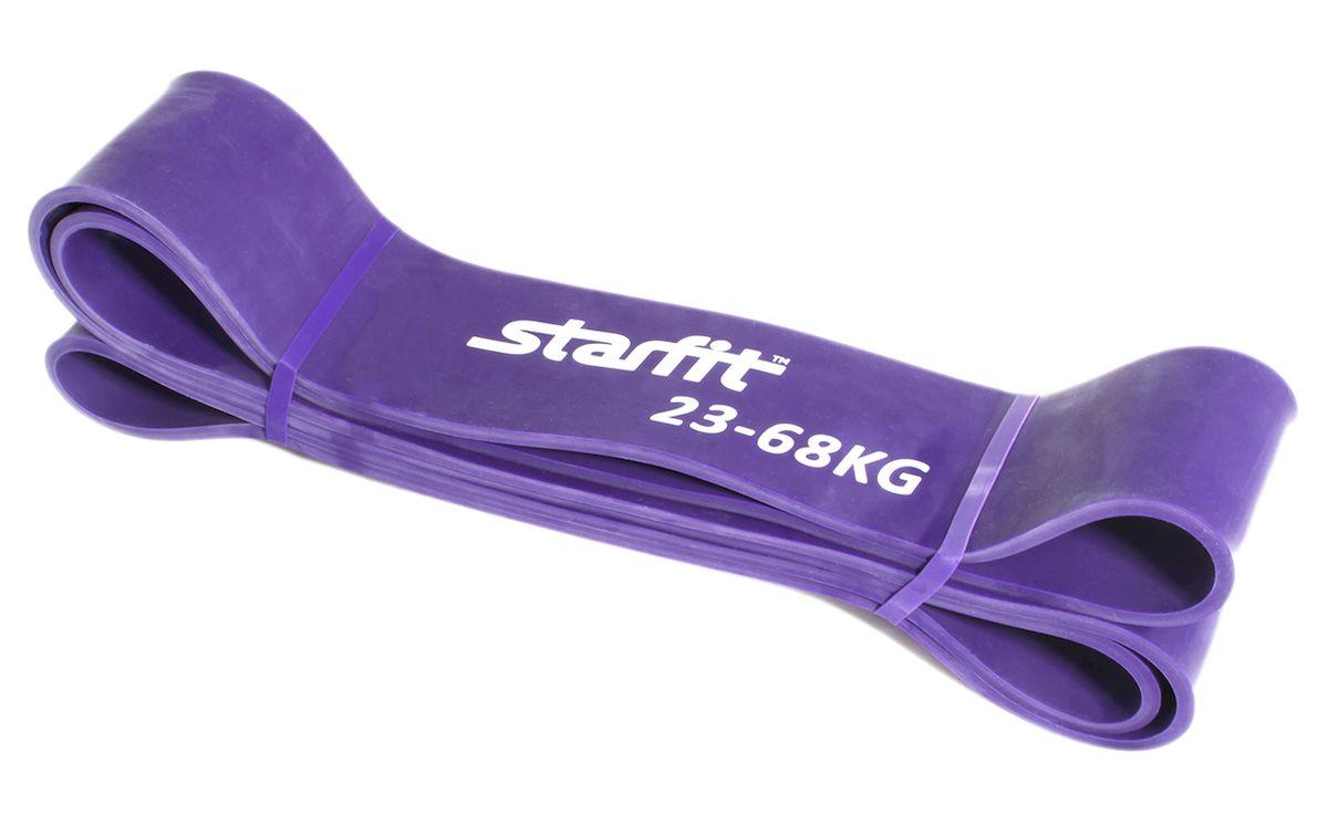 Петля резиновая Starfit ES-801, цвет: фиолетовый, 208 х 6,4 х 0,5 смRivaCase 8460 blackПетля резиновая Star Fit ES-801 - это взятие новых рубежей на ваших тренировках. Петля выполнена из высококачественной резины. Изделие используется для тренировки силы, улучшения подвижности и снижения болевой симптоматики. Широко и активно используется для функциональных тренировок (crossfit).Натяжение: 23-68 кг.