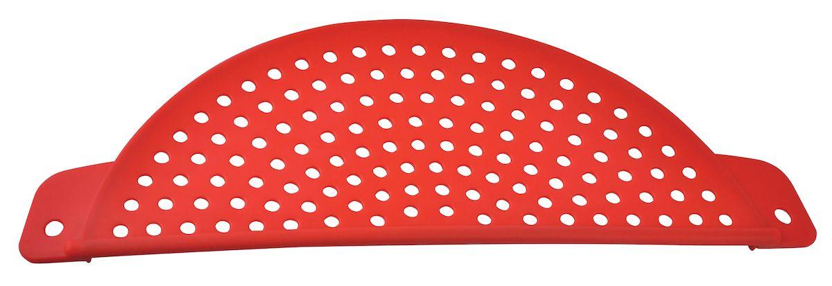 Крышка-дуршлаг Regent Inox Silicone, силиконовая, 38 х 13 х 1,3 смCLD-02_бежевый, белыйКак известно, качественные дуршлаги применяются на кухне практически ежедневно, так как их использование требует приготовление многих видов блюд. Силиконовая крышка-дуршлаг Regent Inox Silicone отлично подходит для слива горячей жидкости из кастрюли. Благодаря данному материалу, изделие не подвергается коррозии, окислению и механическим повреждениям. Крышка является экологически безопасной: она не оставляет запаха и пятен, сохраняя изначальный вкус пищи. Гибкий корпус изделия аккуратно складывается и занимает мало места при хранении.
