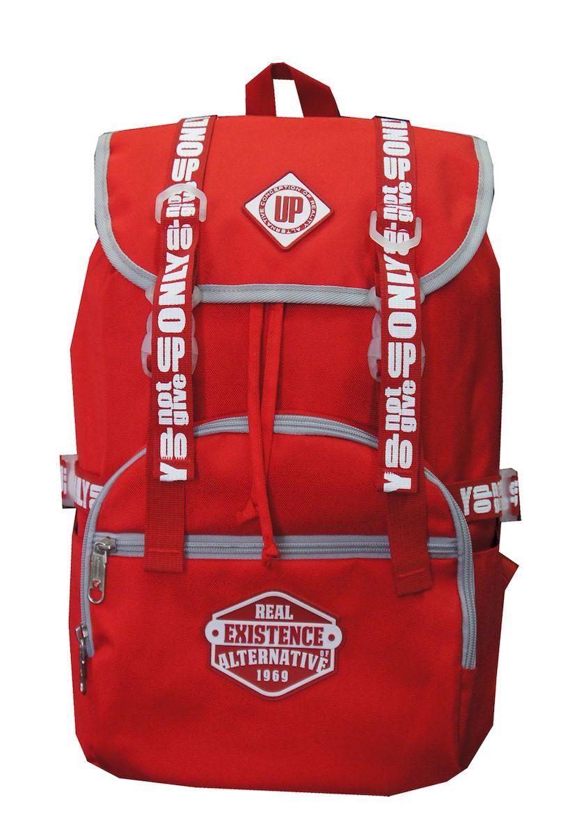 Рюкзак дизайнерский UFO people, цвет: красный. 25 л. 09-3П6009-08Рюкзак городской UFO people выполнен из высококачественного нейлона. Изделиеимеет наружные карманы и уплотненное дно. Рюкзак оснащен ручкой для подвешивания и удобными лямками, длина которых регулируется с помощью пряжек. Внутри расположено вместительное отделение, которое содержит карман для ноутбука.
