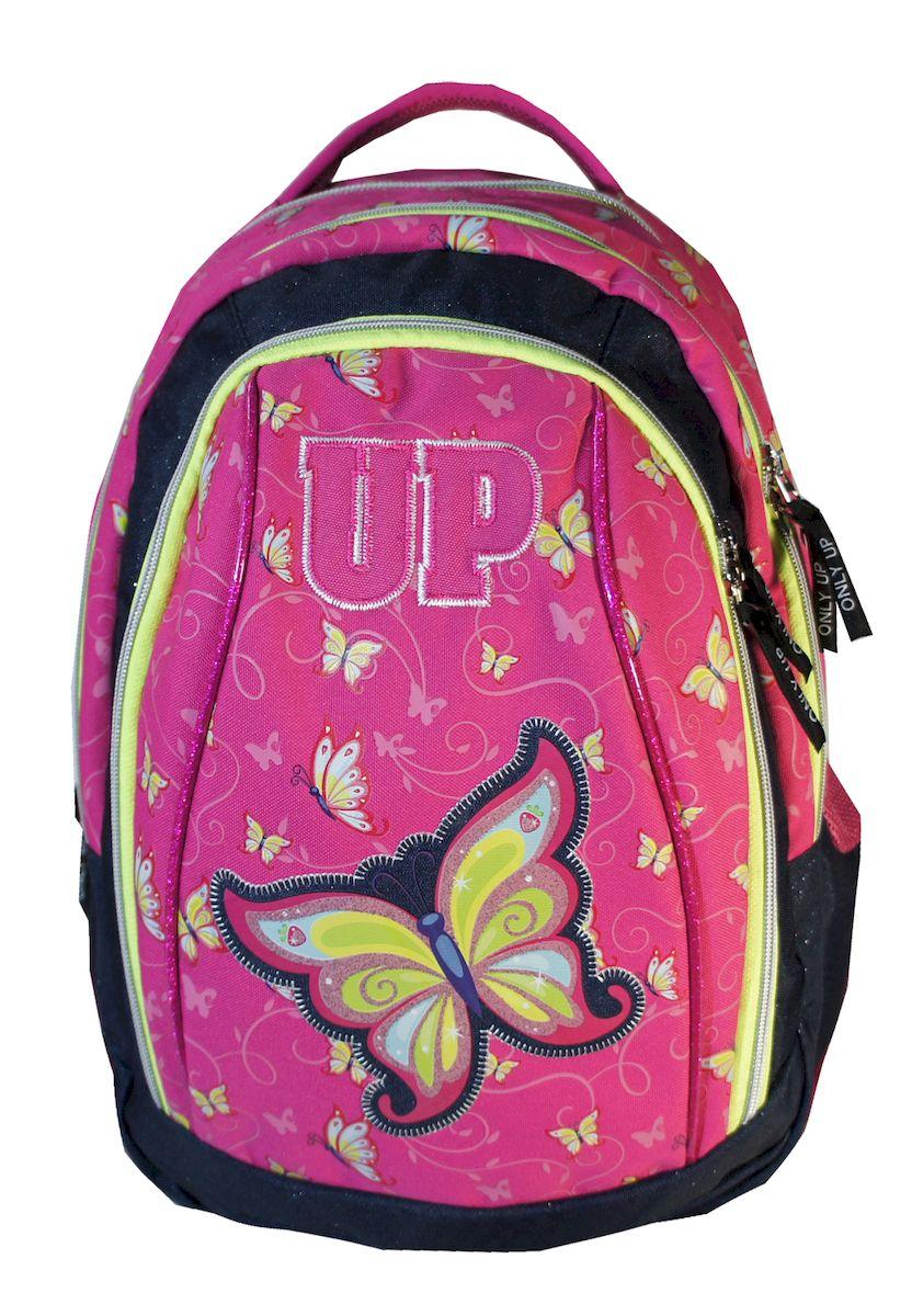 Рюкзак женский UFO people, цвет: розовый. 21 л. 10701MHDR2G/AРюкзак городской UFO people выполнен из высококачественного нейлона и оформлен оригинальным принтом. Изделиеимеетсветоотражающие шевроны и уплотненное дно. Рюкзак оснащен ручкой для подвешивания и удобными лямками, длина которых регулируется с помощью пряжек. Внутри расположено два вместительных отделения и отделение для ноутбука.