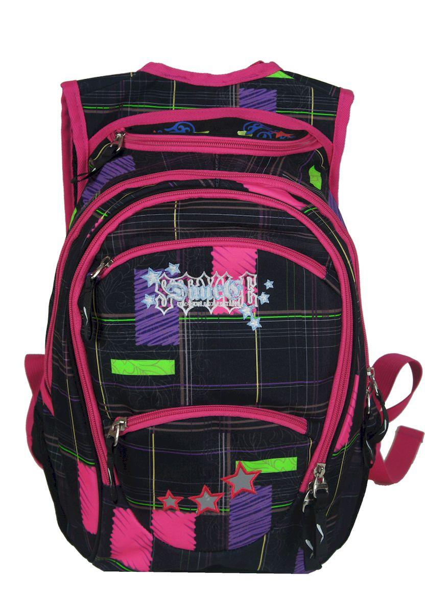 Рюкзак женский UFO people, цвет: черно-розовый. 15 л. 13357 ufo people рюкзак школьный цвет розовый