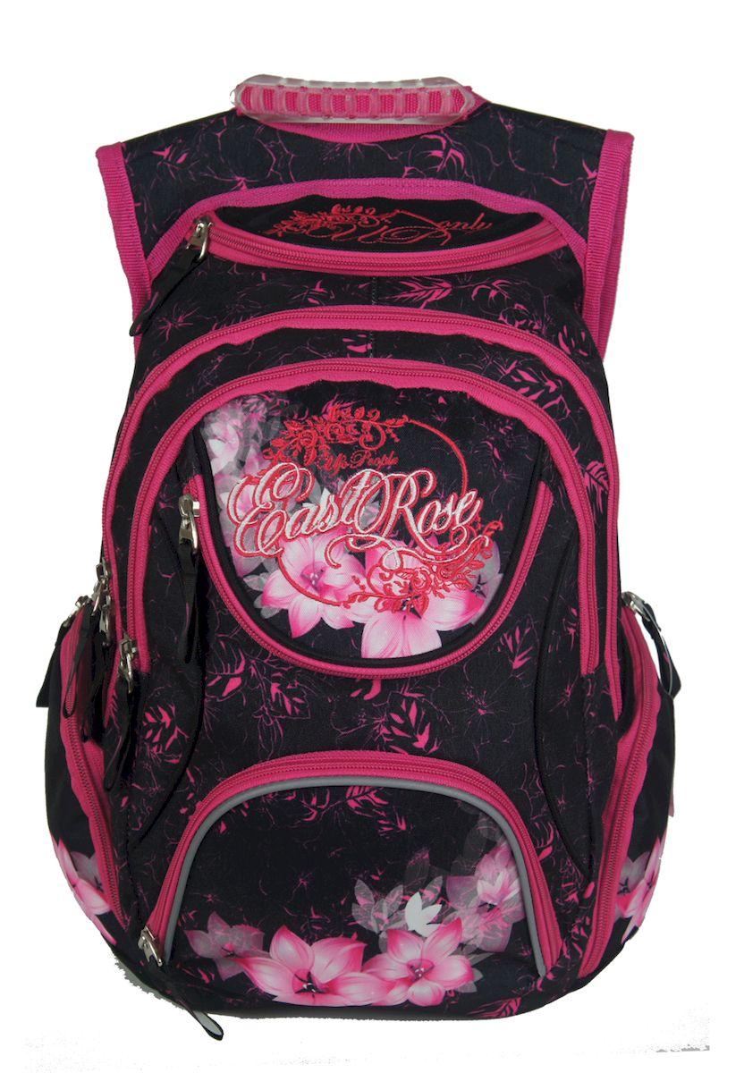 Рюкзак женский UFO people, цвет: черно-розовый. 15 л. 13358