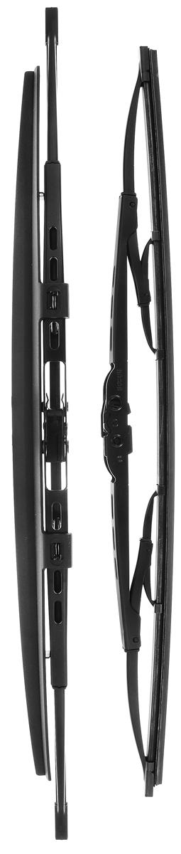 Щетка стеклоочистителя Bosch 533S, каркасная, со спойлером, длина 47,5/53 см, 2 шт2615S545JBКомплект Bosch 533S состоит из двух щеток разной длины, выполненных по современной технологии из высококачественных материалов. Они обеспечивает идеальную очистку стекла в любую погоду.TWIN Spoiler - серия классических каркасных щеток со спойлером от компании Bosch. Эти щетки имеют полностью металлический каркас с двойной защитой от коррозии и сверхточный профиль резинового элемента с двумя чистящими кромками. Спойлер выполнен в виде крыла, который закрывает каркас щетки от воздушного потока.Комплектация: 2 шт.Длина щеток: 47,5 см; 53 см.