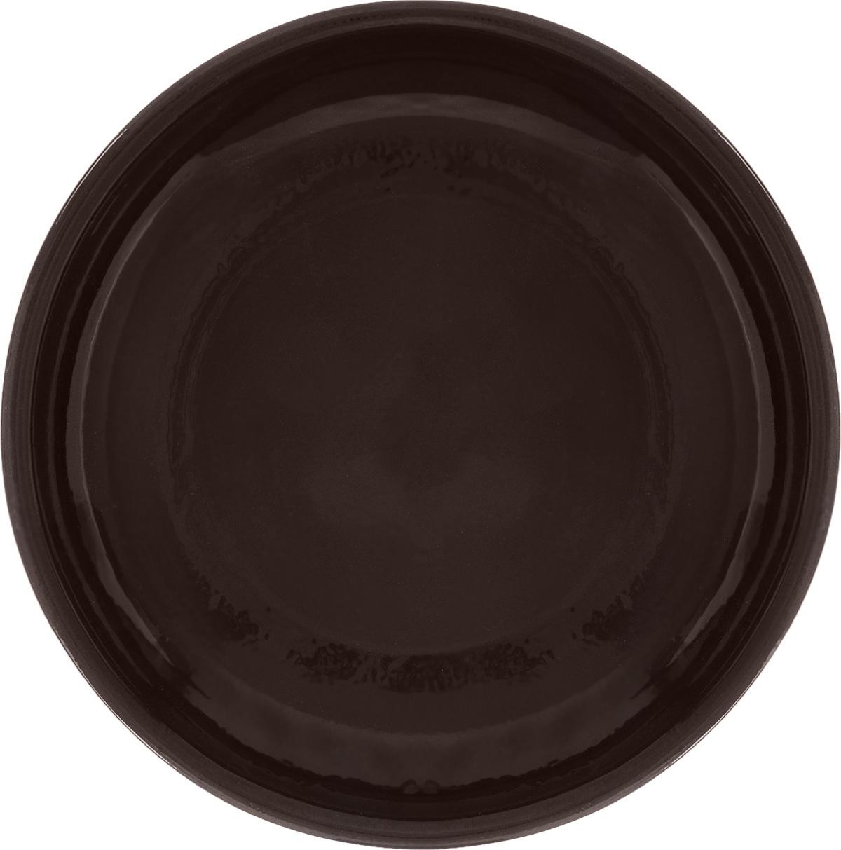 Тарелка Борисовская керамика Старина, цвет: темно-коричневый, диаметр 18 см115510Тарелка Борисовская керамика Радуга, изготовленная из глины, имеет изысканный внешний вид. Лаконичный дизайн придется по вкусу и ценителям классики, и тем, кто предпочитает утонченность. Такая тарелка идеально подойдет для сервировки стола, а также для запекания вторых блюд в духовке.Тарелка Борисовская керамика Радуга впишется в любой интерьер современной кухни и станет отличным подарком для вас и ваших близких.Можно использовать в микроволновой печи и духовке. Диаметр (по верхнему краю): 18 см.