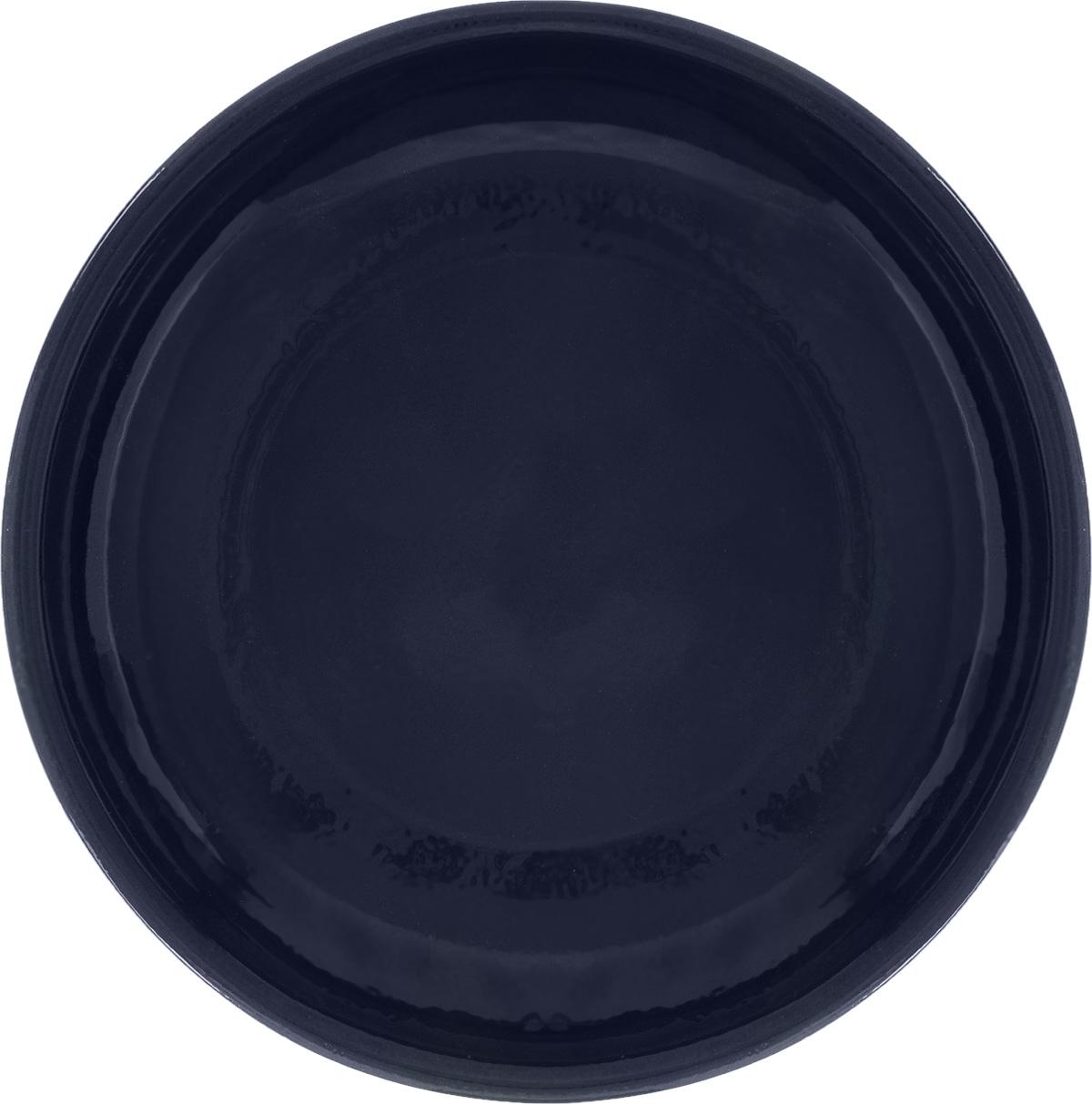Тарелка Борисовская керамика Радуга, цвет: темно-синий, диаметр 18 см115510Тарелка Борисовская керамика Радуга, изготовленная из глины, имеет изысканный внешний вид. Лаконичный дизайн придется по вкусу и ценителям классики, и тем, кто предпочитает утонченность. Такая тарелка идеально подойдет для сервировки стола, а также для запекания вторых блюд в духовке.Тарелка Борисовская керамика Радуга впишется в любой интерьер современной кухни и станет отличным подарком для вас и ваших близких.Можно использовать в микроволновой печи и духовке. Диаметр (по верхнему краю): 18 см.