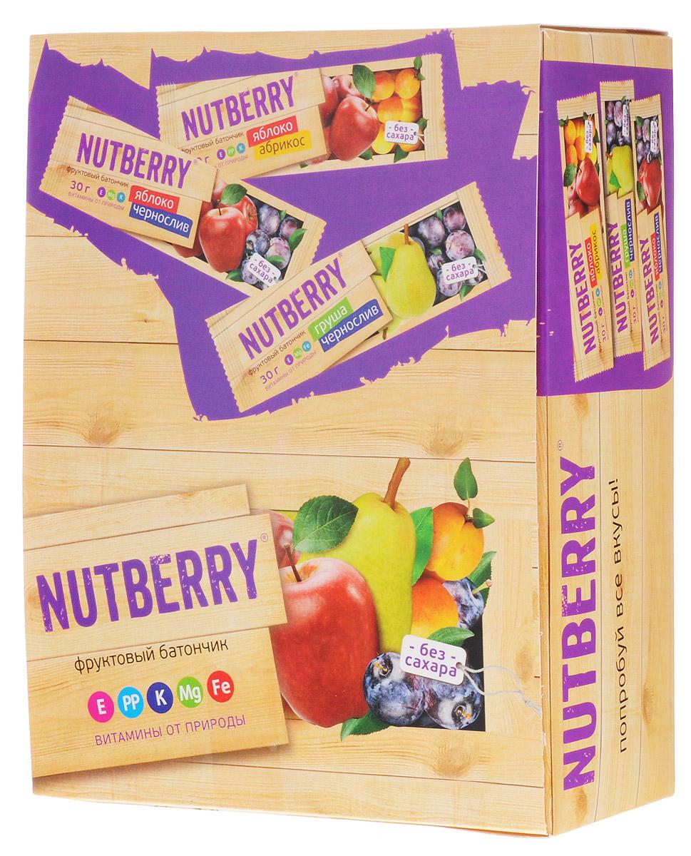 Nutberry Витафрут батончикфруктовый с абрикосом,30г (24 шт)4620000677178Фруктовый батончик Nutberry Витафрут Яблоко и Абрикос - полезный и натуральный снек. Медово-сладкий вкус мякоти абрикоса с кислинкой яблока относится к тем вкусам, которые очаровывают любого гурмана.Фруктовые батончики Nutberry – натурально, вкусно, с заботой о вас. Фруктовый батончик Яблоко и Абрикос справится с голодом в два счета. Любой перекус станет и вкусным и полезным. С утренним кофе, с обеденным чаем, со свежевыжатым соком фруктовый батончик Nutberry станет незаменимым составляющим вашего рациона. Фруктовые батончики Nutberry изготавливаются только из натуральных спрессованных фруктов. Производители не используют яблочное пюре или повидло, которые существенно удешевляют продукт и занижают полезные свойства. Батончики Nutberry содержат естественные фруктовые сахара! При производстве в продукт не добавляются фруктоза, сахар и другие сахаросодержащие продукты. Nutberry абсолютно безопасны, не содержат ароматизаторов и красителей.