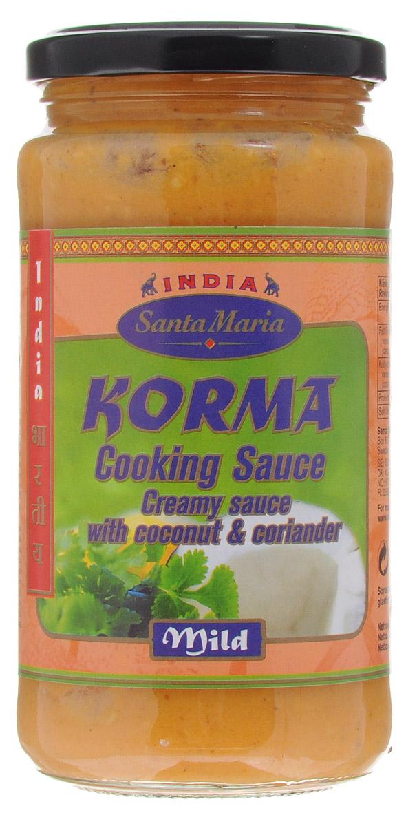 Santa Maria соус Корма, 350 г0120710Соус Корма Santa Maria - это густой, немного сладкий соус, приготовленный на основе кокосовой мякоти. Блюда с соусом Корма менее острые и имеют мягкий орехово-сливочный вкус.
