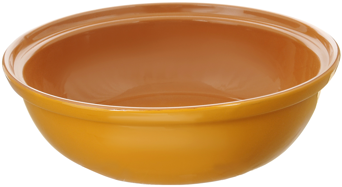 Салатник Борисовская керамика Модерн, цвет: желтый, светло-коричневый, 2,5 л54 009312Салатник Борисовская керамика Модерн выполнен из высококачественной глазурованной керамики. Этот большой и вместительный салатник придется по вкусу любителям здоровой и полезной пищи. Благодаря современной удобной форме, изделие многофункционально и может использоваться хозяйками на кухне как в виде салатника, так и для запекания продуктов, с последующим хранением в нем приготовленной пищи. Посуда термостойкая. Можно использовать в духовке и микроволновой печи.Диаметр (по верхнему краю): 28,5 см.Высота стенки: 8,5 см.