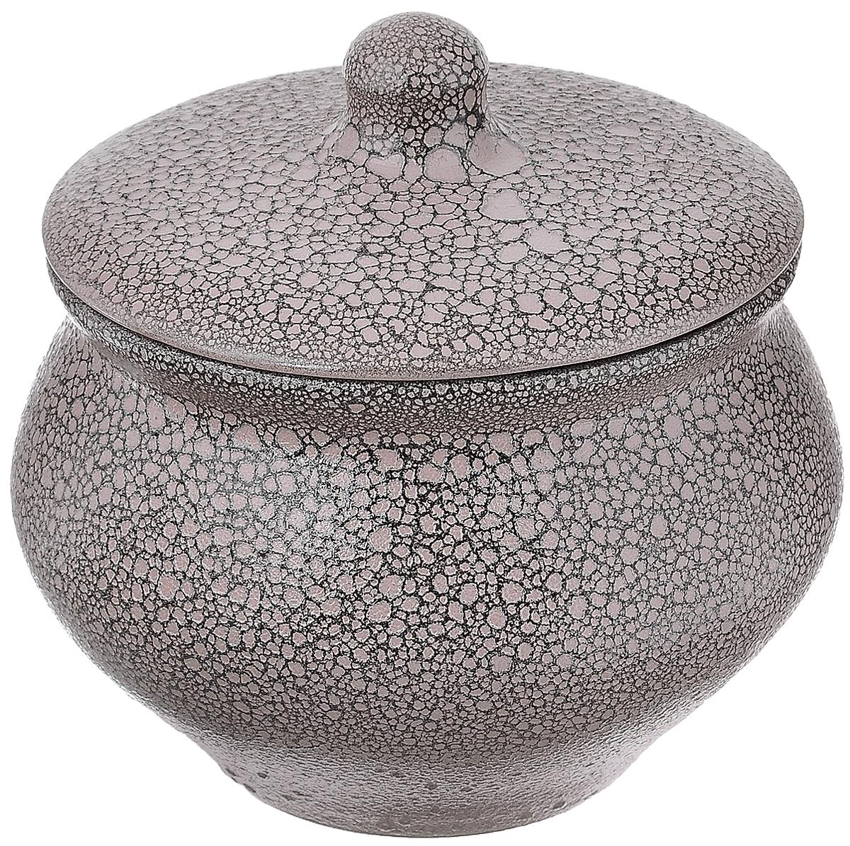 Горшок для жаркого Борисовская керамика Мрамор, 1,3 л115510Горшок для жаркого Борисовская керамика Мрамор выполнен из высококачественной керамики. Внутренняя поверхность покрыта глазурью, а внешние стенки имеют шероховатую поверхность под мрамор. Керамика абсолютно безопасна, поэтому изделие придется по вкусу любителям здоровой и полезной пищи. Горшок для запекания с крышкой очень вместителен и имеет удобную форму. Идеально подходит для приготовления 2-3 порций. Уникальные свойства красной глины и толстые стенки изделия обеспечивают эффект русской печи при приготовлении блюд. Это значит, что еда будет очень вкусной, сочной и здоровой. Посуда жаропрочная. Можно использовать в духовке и микроволновой печи.Диаметр горшочка (по верхнему краю): 15 см. Высота (без учета крышки): 12 см.