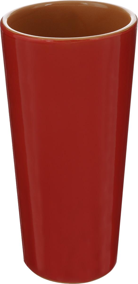 Вазон-стакан Борисовская керамика, цвет: красный, 400 млКРС00000670_красныйВазон-стакан Борисовская керамика изготовлен из высококачественной керамики. Он может быть использован в качестве стакана или вазы. Дизайн изделия подчеркнет оригинальность интерьера и прекрасный вкус хозяина.Диаметр (по верхнему краю): 7,3 см.Диаметр дна: 6 см.Высота: 15,5 см.