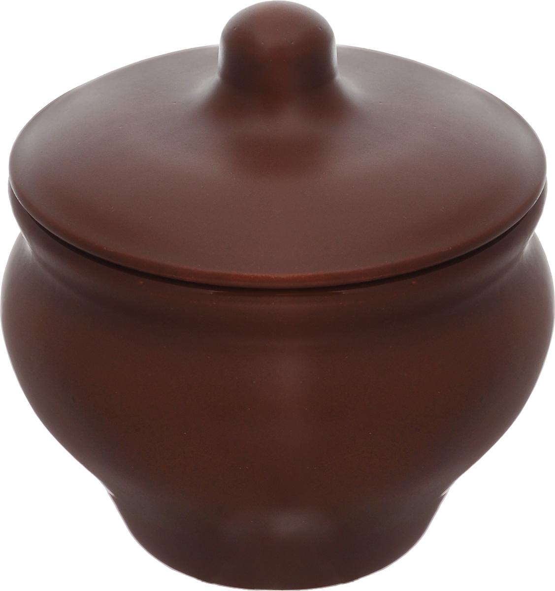 Горшочек для запекания Борисовская керамика Мечта хозяйки, цвет: коричневый, 350 мл391602Если вы любите готовить небольшие блюда, вроде сытных жульенов или отдельно запеченного мяса – горшочек Борисовская керамика Мечта хозяйки именно для вас. Объем изделия позволяет использовать его для приготовления мини-блюд.Но это еще не все - горшочек будет очень удобен для хранения специй и приправ. Он выполнен из высококачественной керамики. В результате вы получаете одновременно посуду для приготовления и емкость для хранения.Горшочек подходит для использования в духовке и микроволновой печи.Диаметр (по верхнему краю): 9,7 см.Высота горшочка (без учета крышки): 8 см.
