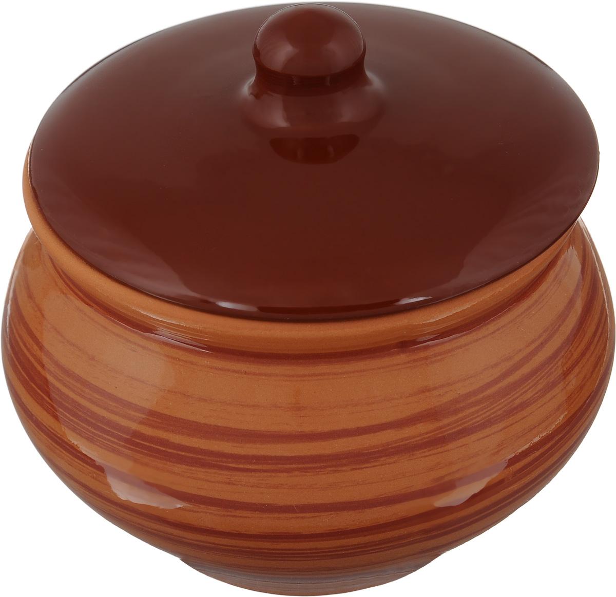 Горшочек для запекания Борисовская керамика Cтандарт, 1,3 л68/5/4Горшочек для запекания Борисовская керамика Cтандарт выполнен из высококачественной керамики. Уникальные свойства керамики и толстые стенки изделия обеспечивают эффект русской печи при приготовлении блюд. Блюда, приготовленные в таком горшочке, получаются нежными исочными. Вы сможете приготовить мясо, сделать томленые овощи и все это без капли масла. Этоодин из самых здоровых способов готовки. Диаметр горшка (по верхнему краю): 15 см.Высота стенок: 12,5 см.