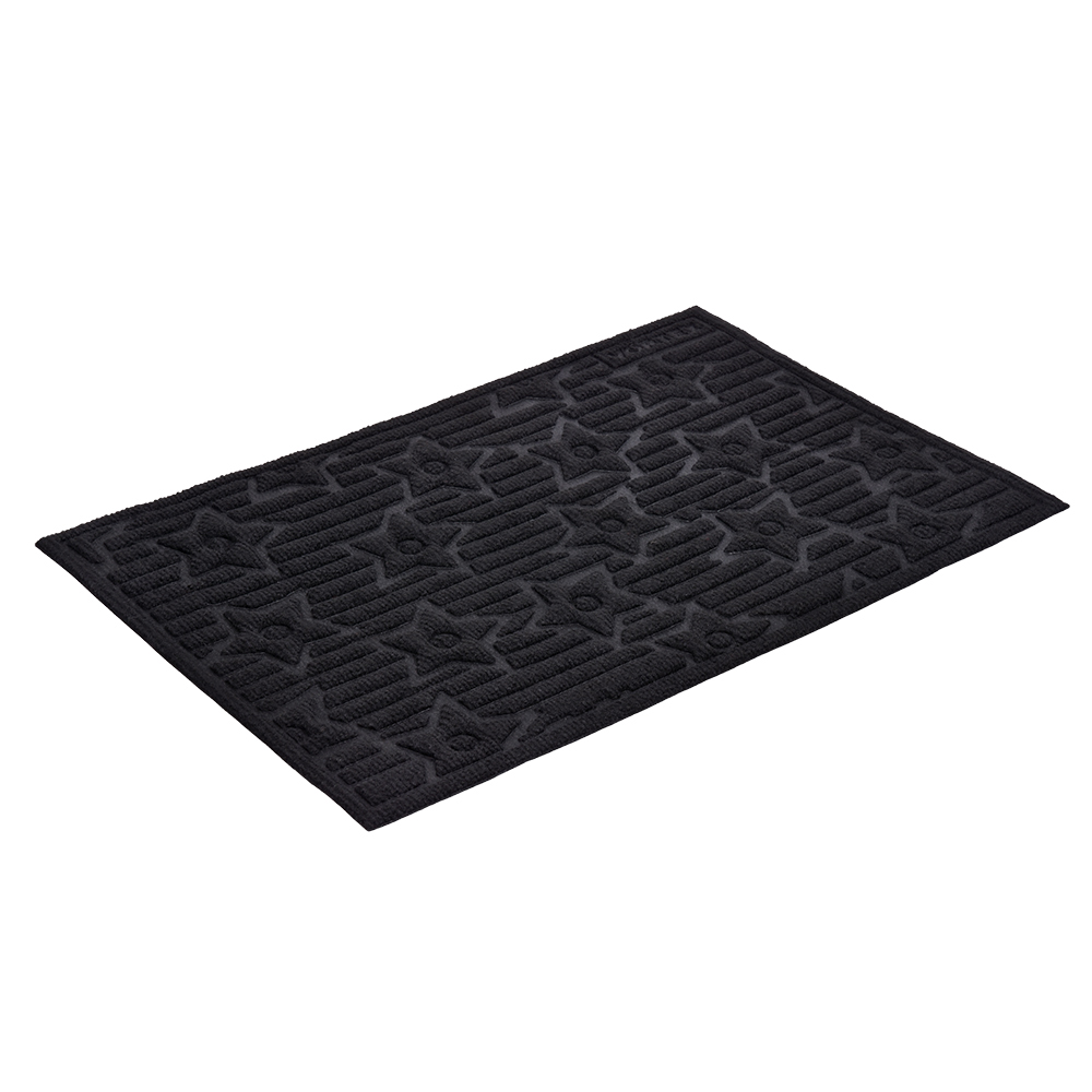 Коврик придверный Vortex Greek, рельефный, цвет: черный, 40 х 60 смFS-80299Ворс коврика Vortex изготовлен из 100% полипропилена. Коврик оснащен выполненной из резины подложкой. Коврик Vortex гармонично впишется в интерьер вашего дома и создаст атмосферу уюта и комфорта. Изделие отлично подойдет как для использования в доме, так и снаружи.