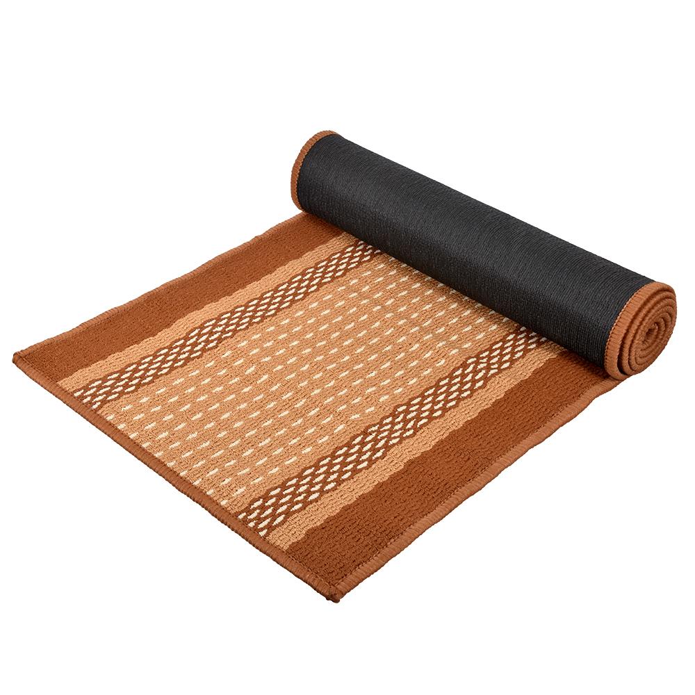 Коврик Vortex Madrid, 50х190 см, цвет: темно-коричневый22411Ворс - 100% Полипропилен. Подложка - 100% латекс.