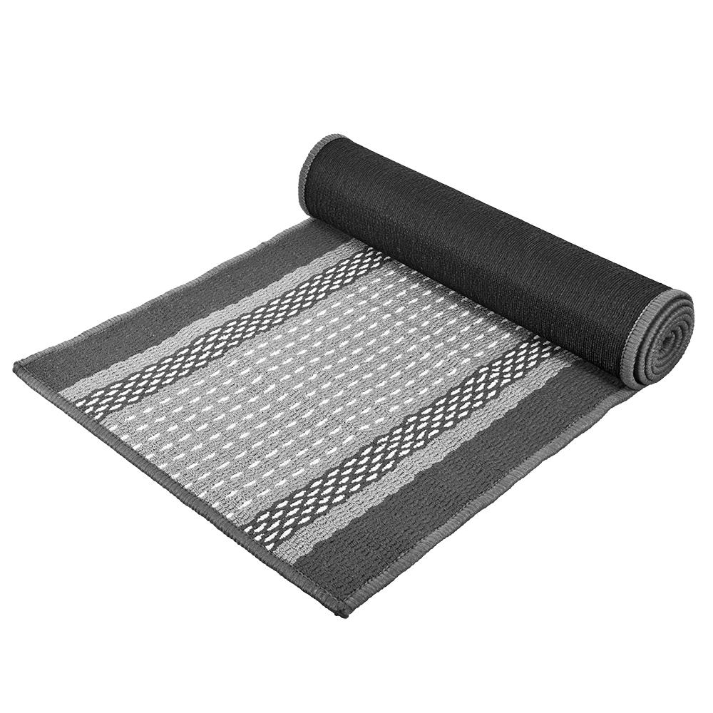 Коврик Vortex Madrid, цвет: серый, 50 х 190 смFS-80418Ворс коврика Vortex изготовлен из 100% полипропилена. Он оформлен ярким рисунком. Коврик оснащен выполненной из латекса подложкой, которая препятствует скольжению. Коврик Vortex гармонично впишется в интерьер вашего дома и создаст атмосферу уюта и комфорта. Изделие отлично подойдет как для использования в доме, так и снаружи.