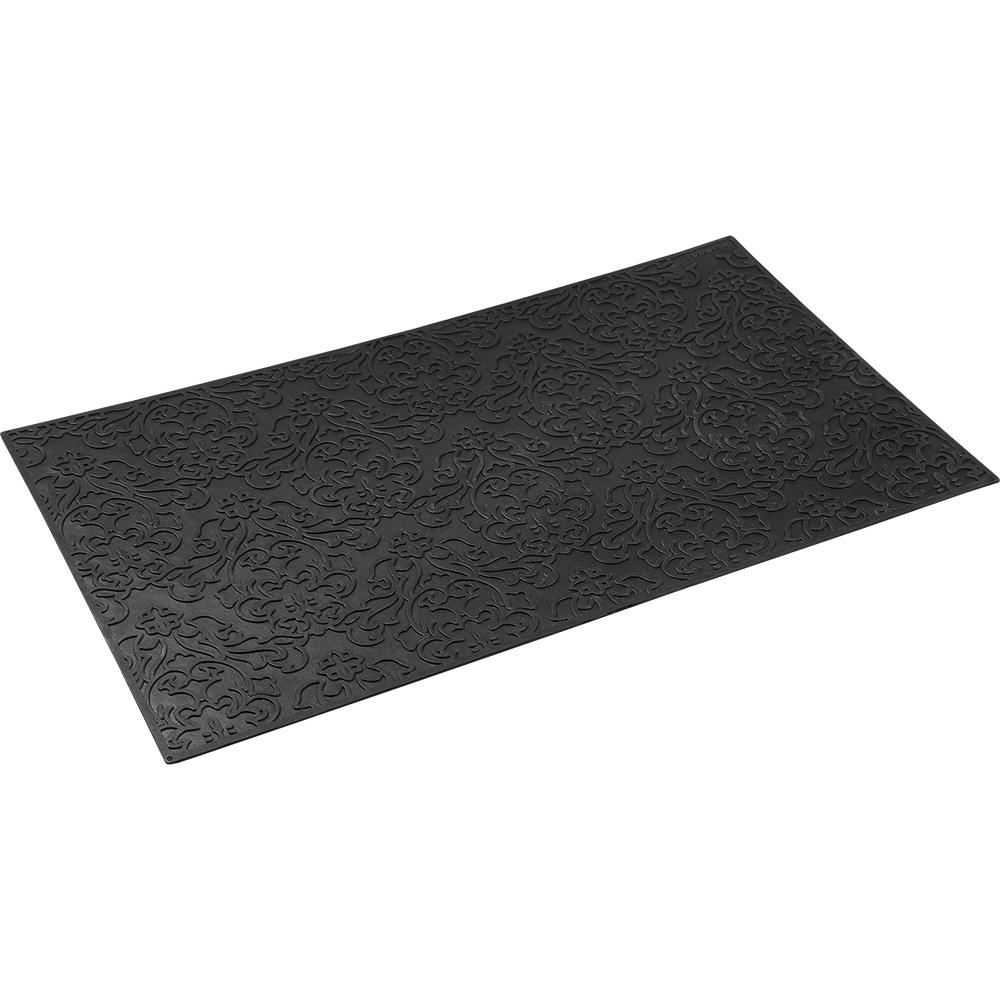 Коврик придверный Vortex Узор, грязесборный, цвет: черный, 35 х 60 см8812Коврик придверный Vortex Узор изготовлен из прочной и долговечной резины. Конструкция коврика имеет специальные ребра, которые помогают более эффективно удалять грязь с обуви, а отверстия в конструкции удаляют излишки воды. Придверный коврик Узор надежно защитит помещение от уличной пыли и грязи.