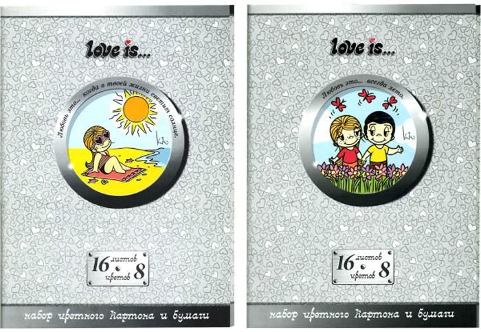 Action! Набор цветного картона и бумаги Love is... 16 листов 2 шт цвет серый1108103Набор цветного картона и бумаги Action! Love is... позволит вашему ребенку создавать всевозможные аппликации и поделки. Набор содержит 8 листов цветного картона и 8 листов цветной бумаги формата А4. Листы упакованы в оригинальную картонную папку, оформленную в тематике Love is.... Создание поделок из картона поможет ребенку в развитии творческих способностей, кроме того, это увлекательный досуг.В комплекте 2 набора по 16 листов.Уважаемые клиенты!Обращаем ваше внимание на возможные изменения в дизайне, связанные с ассортиментом продукции: дизайн может отличаться от представленного на изображении. Поставка осуществляется в зависимости от наличия на складе.
