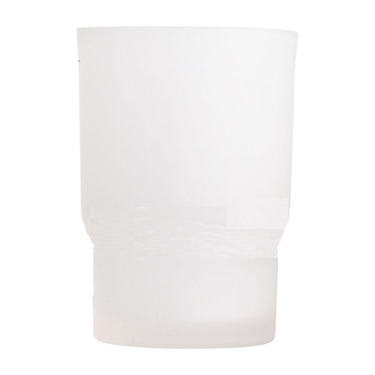 Стакан для ванной комнаты Vanstore Овал, 6,7 х 6,7 х 9,5 см68/5/3Стакан для ванной комнаты Vanstore Овал изготовлен из высококачественного матового стекла. В стакане удобно хранить зубные щетки, тюбики с зубной пастой и другие принадлежности. Такой аксессуар для ванной комнаты стильно украсит интерьер и добавит в обычную обстановку яркие и модные акценты. Изделие отлично сочетается с другими аксессуарами из коллекции Овал. Может служит дополнительным стаканом для комплекта 003-23.
