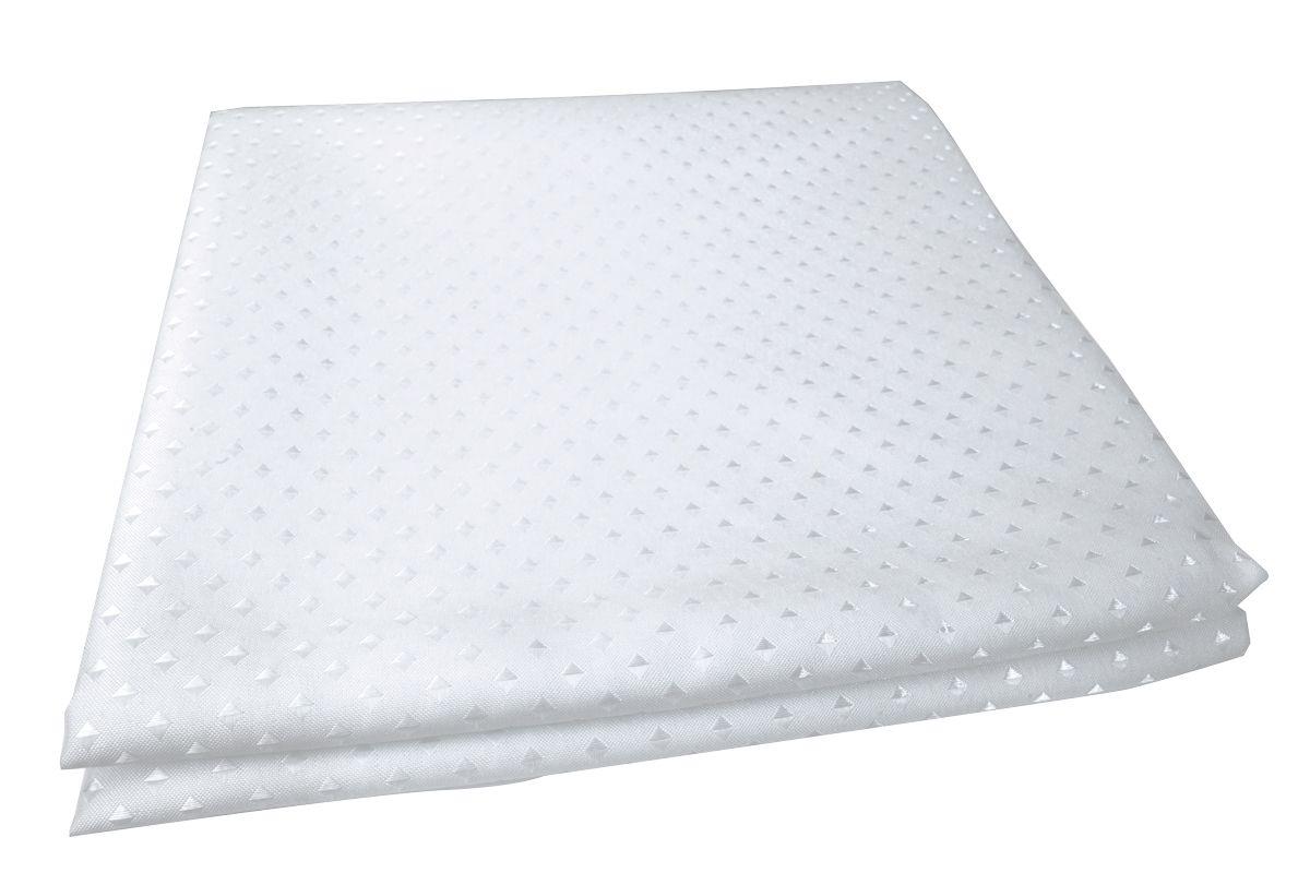 Штора для ванной комнаты Vanstore Star, цвет: белый, 180 х 180 смRG-D31SЗанавеска STAR белая 100% полиэстр. Размер 180х180 см. Водонепроницаема. Снабжена утяжеляющей полоской, не позволяющей занавеске мяться. Плотность: 100 gsm. Крепления в комплект не входят.