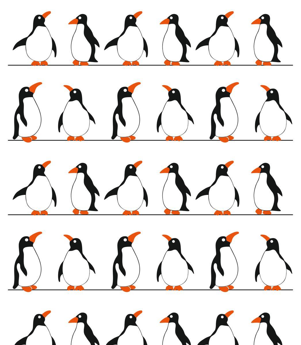 Штора для ванной комнаты Vanstore Пингвины, цвет: белый, черный, оранжевый, 180 х 180 см391602Штора для ванной комнаты Vanstore Пингвины имеет специальную водоотталкивающую пропитку и антигрибковое покрытие. Штора быстро сохнет, легко моется и обладает повышенной износостойкостью. Снабжена утяжеляющей полоской, не позволяющей занавеске мяться.