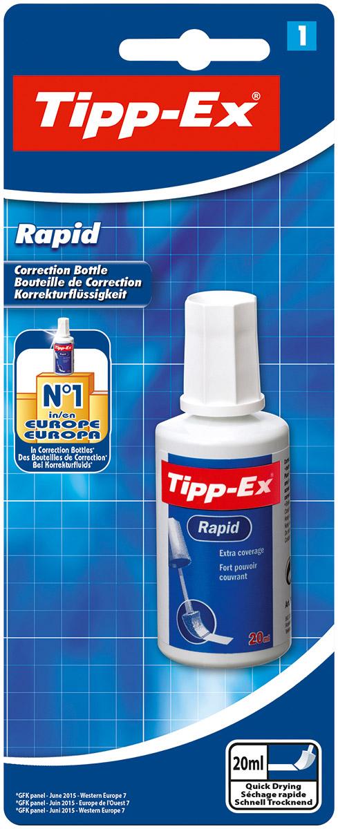 Bic Корректирующая жидкость Tipp-Ex Rapid 20 млB8871592Корректирующая жидкость Bic Tipp-Ex. Rapid на водной основе без резкого запаха. Быстро засыхает и позволяет наносить новые надписи почти сразу. Удобный конусообразный поролоновый аппликатор обеспечивает точную и аккуратную коррекцию с великолепной степенью покрытия бумаги.