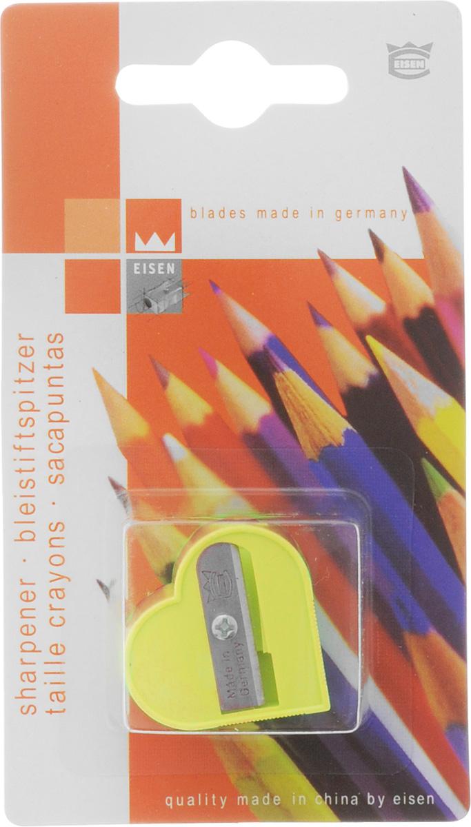 Eisen Точилка Сердце цвет желтый111.01.999/BL_желтыйТочилка Eisen Сердце предназначена для затачивания классических простых и цветных карандашей.Точилка изготовлена из качественного материала и имеет рельефную область захвата. Острые лезвия обеспечивают высококачественную и точную заточку карандашей.