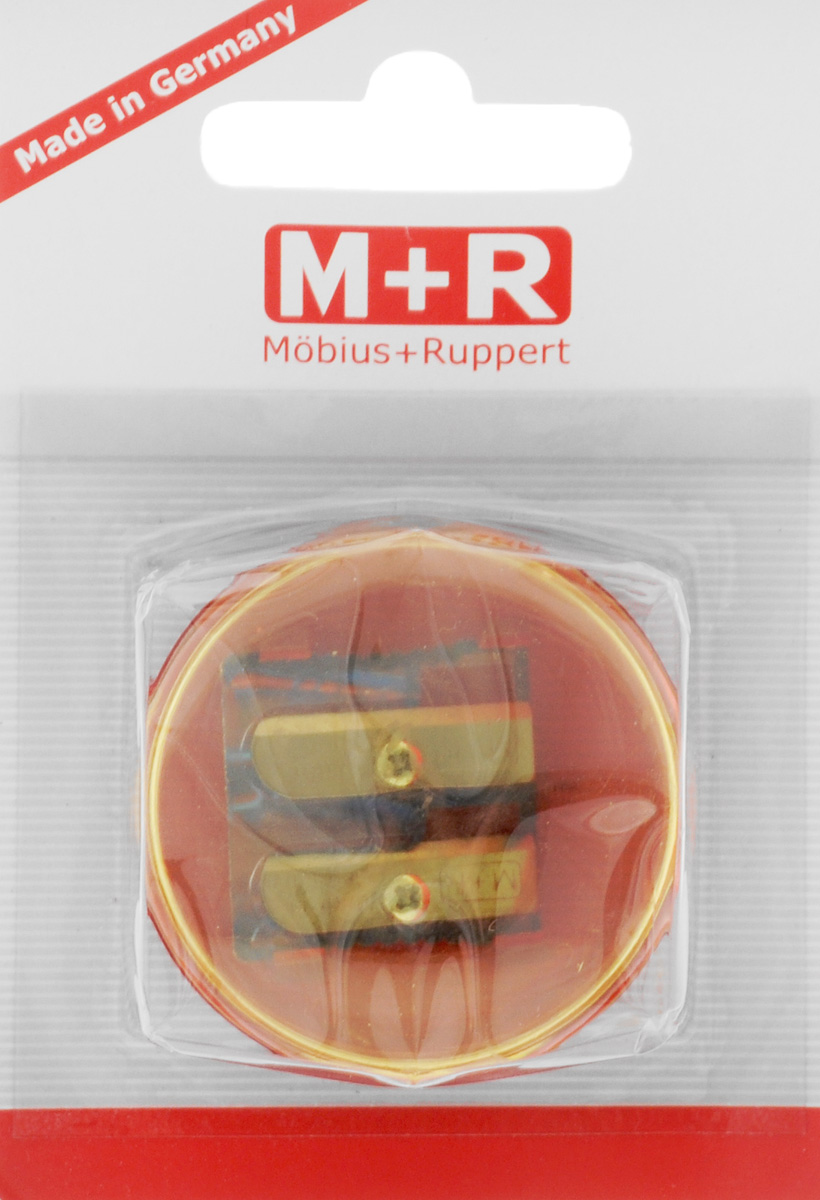 M+R Точилка Top Duo цвет желтый красный187298Точилка M+R Top Duo выполнена из прочного пластика.В точилке имеются два отверстия для карандашей разного диаметра. Точилка подходит для различных видов карандашей. При повороте пластикового контейнера, отверстия закрываются.Полупрозрачный контейнер для сбора стружки позволяет визуально контролировать уровень заполнения и вовремя производить очистку.