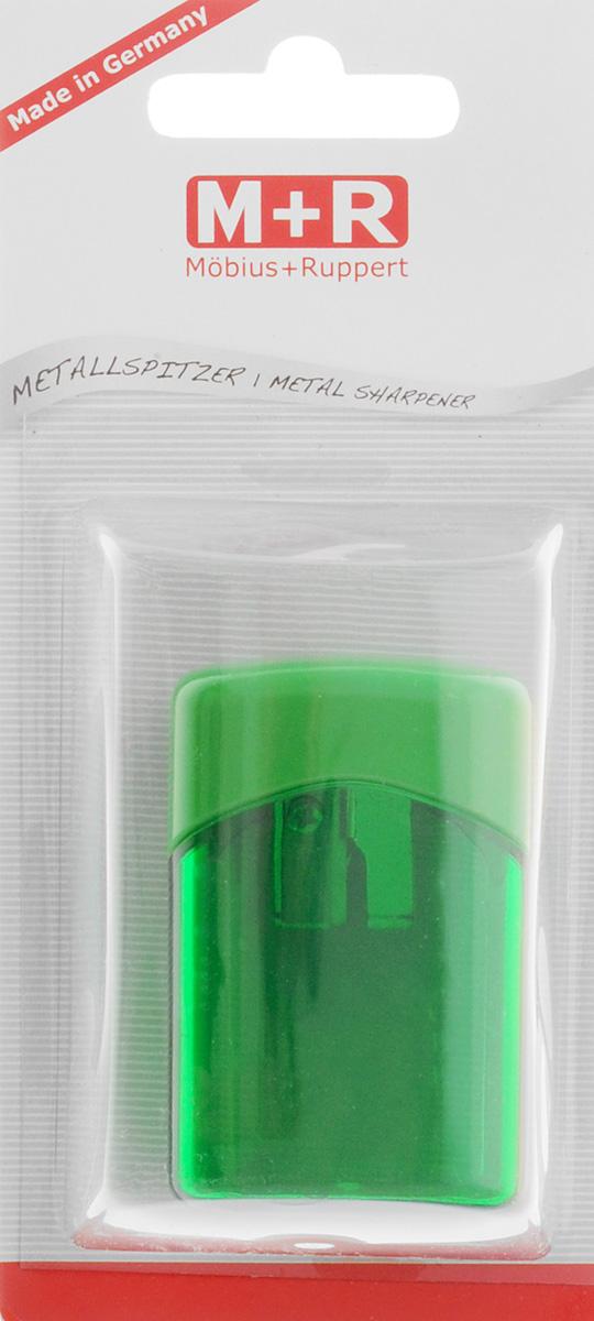 M+R Точилка Quattro Swing с контейнером цвет зеленый0608030Точилка M+R Quattro Swing в пластиковом корпусе прямоугольной формы предназначена для затачивания карандашей.Точилка имеет одно отверстие для карандашей. Острое лезвие обеспечивает высококачественную и точную заточку. Карандаш затачивается легко и аккуратно, а опилки после заточки остаются в специальном полупрозрачном контейнере.