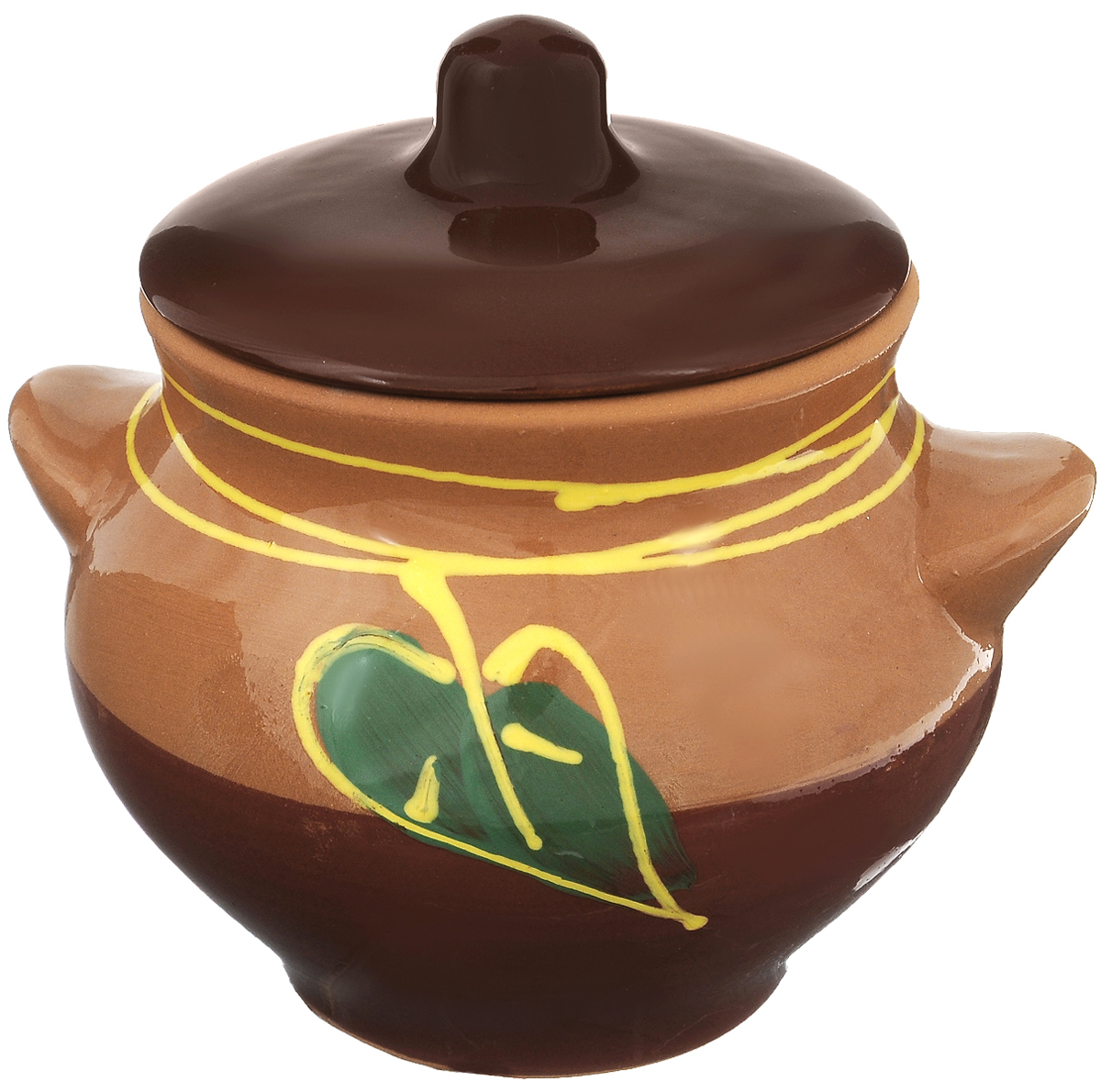 Горшочек для запекания Борисовская керамика Cтандарт, цвет: коричневый, зеленый, 550 мл1117Горшочек для запекания Борисовская керамика Cтандарт выполнен из высококачественной красной глины. Уникальные свойства красной глины и толстые стенки изделия обеспечивают эффект русской печи при приготовлении блюд. Блюда, приготовленные в таком горшочке, получаются нежными исочными. Вы сможете приготовить мясо, сделать томленые овощи и все это без капли масла. Этоодин из самых здоровых способов готовки. Диаметр горшка (по верхнему краю): 10 см.Высота стенок: 11 см.