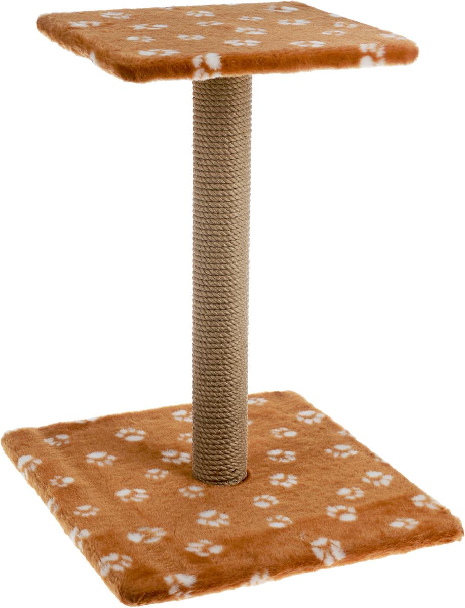 Когтеточка Меридиан Зонтик, цвет: коричневый, белый, бежевый, 40 х 40 х 50 см0120710Когтеточка Меридиан Зонтик поможет сохранить мебель и ковры в доме от когтей вашего любимца, стремящегося удовлетворить свою естественную потребность точить когти. Когтеточка изготовлена из дерева, искусственного меха и джута. Товар продуман в мельчайших деталях и, несомненно, понравится вашей кошке. Сверху имеется полка.Всем кошкам необходимо стачивать когти. Когтеточка - один из самых необходимых аксессуаров для кошки. Для приучения к когтеточке можно натереть ее сухой валерьянкой или кошачьей мятой. Когтеточка поможет вашему любимцу стачивать когти и при этом не портить вашу мебель.Размер основания: 40 х 40 см.Высота когтеточки: 50 см.Размер полки: 31 х 31 см.