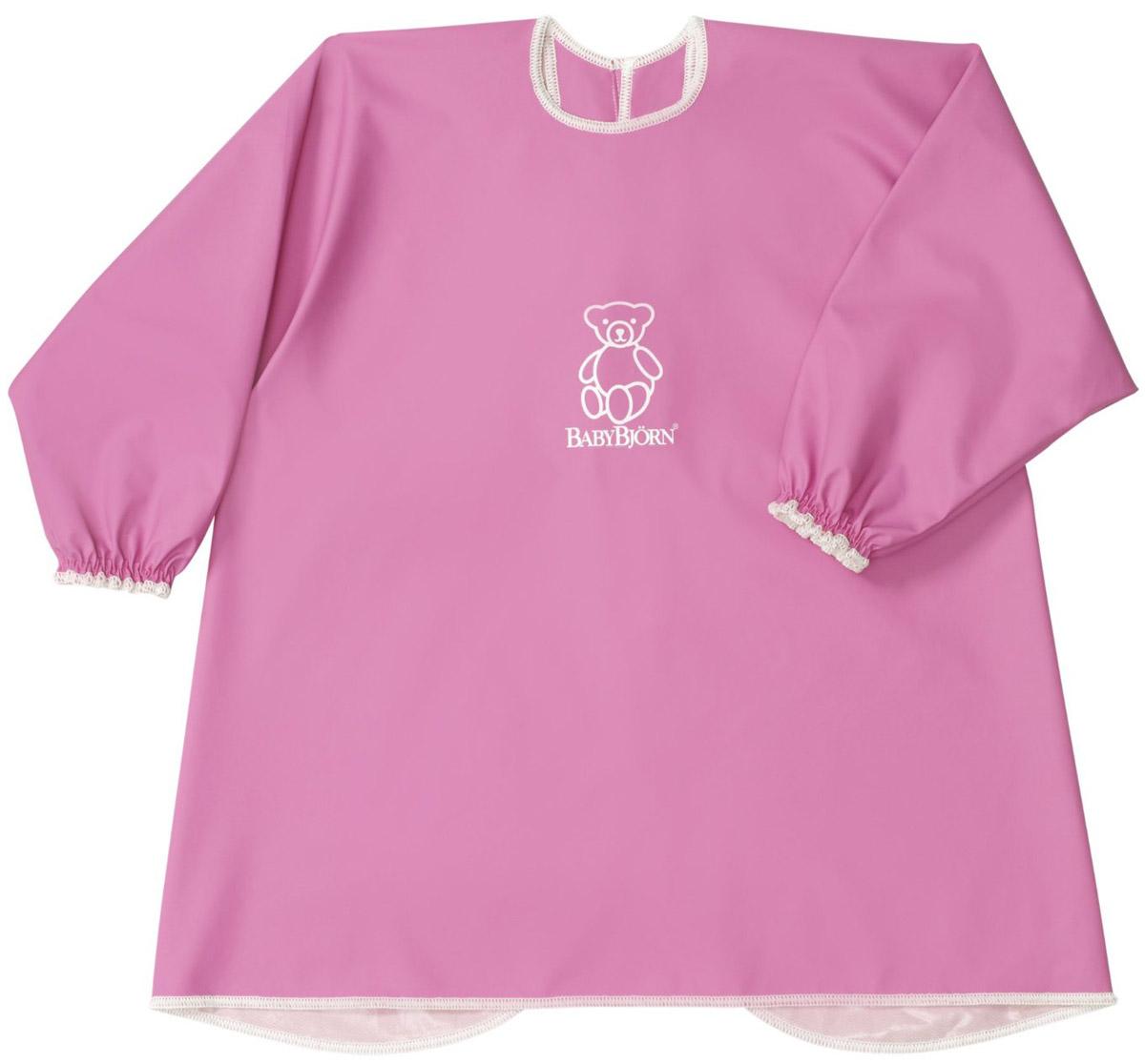 Эта мягкая и практичная рубашка надежно защитит одежду вашего ребенка. С удобными застежками-кнопками на спине и мягкими, эластичными манжетами, рубашка защищает одежду малыша сзади и спереди от воды, еды, красок и всего того, что можно пролить или от того, чем можно испачкаться. Попробовав один раз, вы уже не сможете представить себе, как вы без нее обходились. Разрешена машинная стирка. Безопасность материала, из которого изготовлена рубашка, подтверждается международным сертификатом Oko-Tex Class 1.