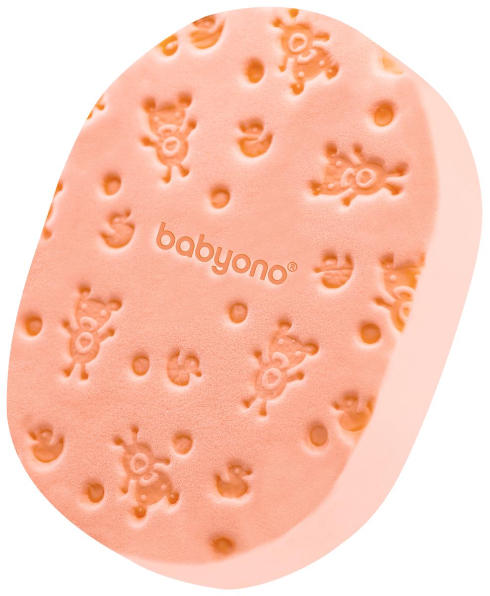 BabyOno Губка для купания Soft цвет персиковый5010777139655Губка для купания BabyOno Soft - это необычайно мягкая и единственная в своем роде губка, созданная специально для нежной и чувствительной кожи вашего ребёнка. Губка BabyOno предназначена как для младенцев, так и для более старших детей. Её необычная структура позволяет надлежащим образом увлажнить кожу и восстановить её здоровье и гладкость. Мягкая губка оформлена тиснением в виде забавных медвежат. Она поможет вам бережно ухаживать за кожей малыша.