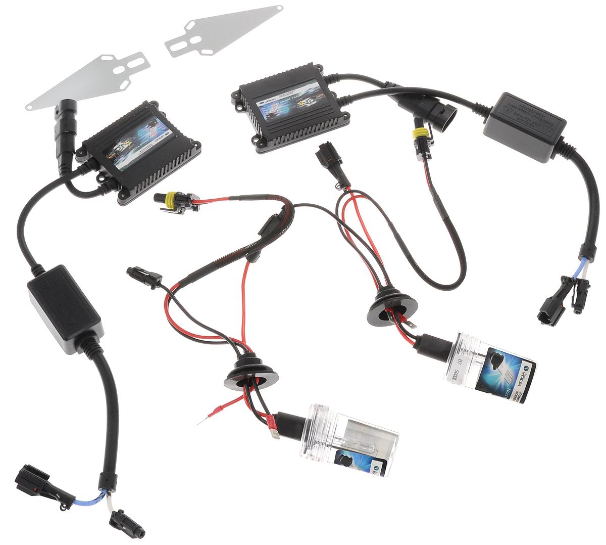 Комплект ксенона Nord YADA, цоколь H7, 9-16V, 35 W. 90317810501Ксеноновый комплект Nord YADA предназначен для использования в транспортных средствах. Он обеспечивает стабильное освещение дороги при плохих погодных условиях и в темноте. Комплект предназначен для использования в фарах ближнего и дальнего света. Имеет более длительный срок службы, в отличие от галогеновых ламп.Ксеноновая лампа - это источник света, представляющий собой состоящее из колбы с газом (ксеноном) устройство, в котором светится электрическая дуга, возникающая вследствие подачи напряжения на электроды лампы.Рабочий диапазон питающих напряжений: 9-16В.Диапазон рабочих температур: от -20°С до +120°С.Срок службы: 3000 ч.