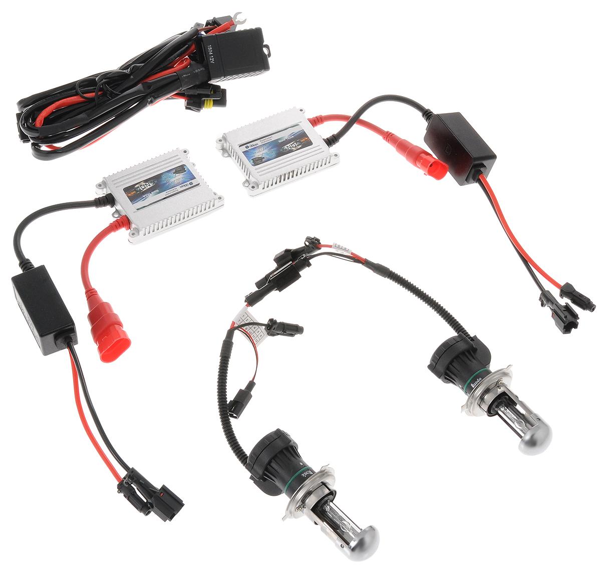 Комплект ксенона Nord YADA, цоколь H4, 9-16V, 35 W. 903145903145Ксеноновый комплект Nord YADA предназначен для использования в транспортных средствах. Он обеспечивает стабильное освещение дороги при плохих погодных условиях и в темноте. Комплект предназначен для использования в фарах ближнего и дальнего света.Биксеноновый комплект обеспечивает легкий переход от галогенового освещения к освещению ксеноном. Позволяет улучшить освещение дороги, повысить безопасность и снизить показатели потребляемой мощности вашего автомобиля.Рабочий диапазон питающих напряжений: 9-16В.Диапазон рабочих температур: от -20°С до +120°С.Срок службы: 3000 ч.