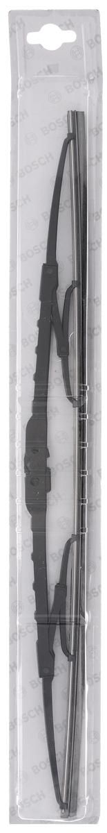 Щетка стеклоочистителя Bosch Eco 50С, каркасная, длина 50 см, 1 шт3397004670Универсальная щетка Bosch Eco 50С - функциональный стеклоочиститель с металлическими скобами, который характеризуется хорошей эффективностью очистки и качеством. Каркас щетки выполнен из металла с антикоррозийным покрытием и имеет форму, способствующую уменьшению подъемной силы на высоких скоростях. Натуральная резина щетки с графитовым напылением обеспечивает тщательность очистки. Щетка имеет крепление крючок. Быстрый монтаж, благодаря предварительно установленному универсальному адаптеру Quick Clip.