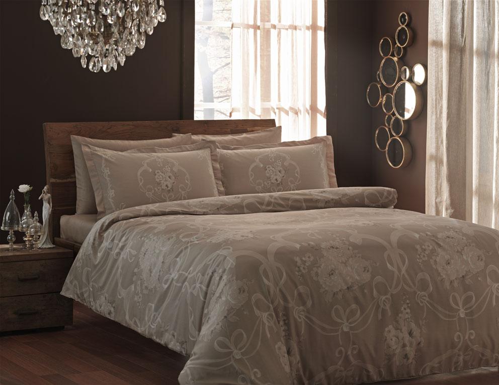 Комплект белья TAC Ribbon, 1,5-спальный, наволочка 50х70 смCA-3505Комплект постельного белья включает в себя три предмета: пододеяльник, простыню и одну наволочку, выполненные из сатина.Сатин - гладкая и прочная ткань, которая своим блеском, легкостью и гладкостью похожа на шелк, но выгодно отличается от него в цене. Сатин практически не мнется, поэтому его можно не гладить. Ко всему прочему, он весьма практичен, так как хорошо переносит множественные стирки. Размер пододеяльника: 160 x 220 см.Размер простыни: 180 x 260 см.Размер наволочки: 50 x 70 см.