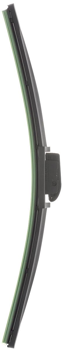 Щетка стеклоочистителя Wonderful, бескаркасная, с тефлоном, с 10 адаптерами, длина 40 см, 1 штS03301004Бескаркасная универсальная щетка Wonderful, выполненная по современной технологии из высококачественных материалов, предназначена для установки на переднее стекло автомобиля. Направляющая шина, расположенная внутри чистящего полотна, равномерно распределяет прижимное усилие по всей длине, точно повторяя рельеф щетки, что обеспечивает наиболее полное очищение стекла за один проход. Отличается высоким качеством исполнения и оптимально подходит для замены оригинальных щеток, установленных на конвейере. Обеспечивает качественную очистку стекла в любую погоду. Изделие оснащено 10 адаптерами, которые превосходно подходят для наиболее распространенных типов креплений. Простой и быстрый монтаж.