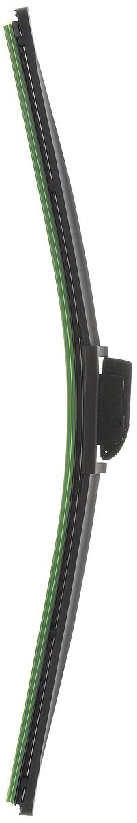 Щетка стеклоочистителя Wonderful, бескаркасная, с тефлоном, с 10 адаптерами, длина 45 см, 1 штS03301004Бескаркасная универсальная щетка Wonderful, выполненная по современной технологии из высококачественных материалов, предназначена для установки на переднее стекло автомобиля. Направляющая шина, расположенная внутри чистящего полотна, равномерно распределяет прижимное усилие по всей длине, точно повторяя рельеф щетки, что обеспечивает наиболее полное очищение стекла за один проход. Отличается высоким качеством исполнения и оптимально подходит для замены оригинальных щеток, установленных на конвейере. Обеспечивает качественную очистку стекла в любую погоду. Изделие оснащено 10 адаптерами, которые превосходно подходят для наиболее распространенных типов креплений. Простой и быстрый монтаж.