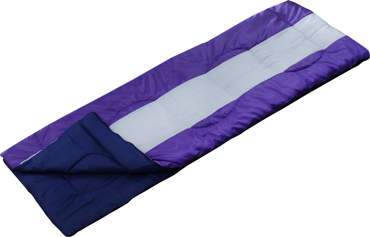 Спальный мешок Чайка Navy 150, правосторонняя молния, цвет: фиолетовый спальник чайка large 250