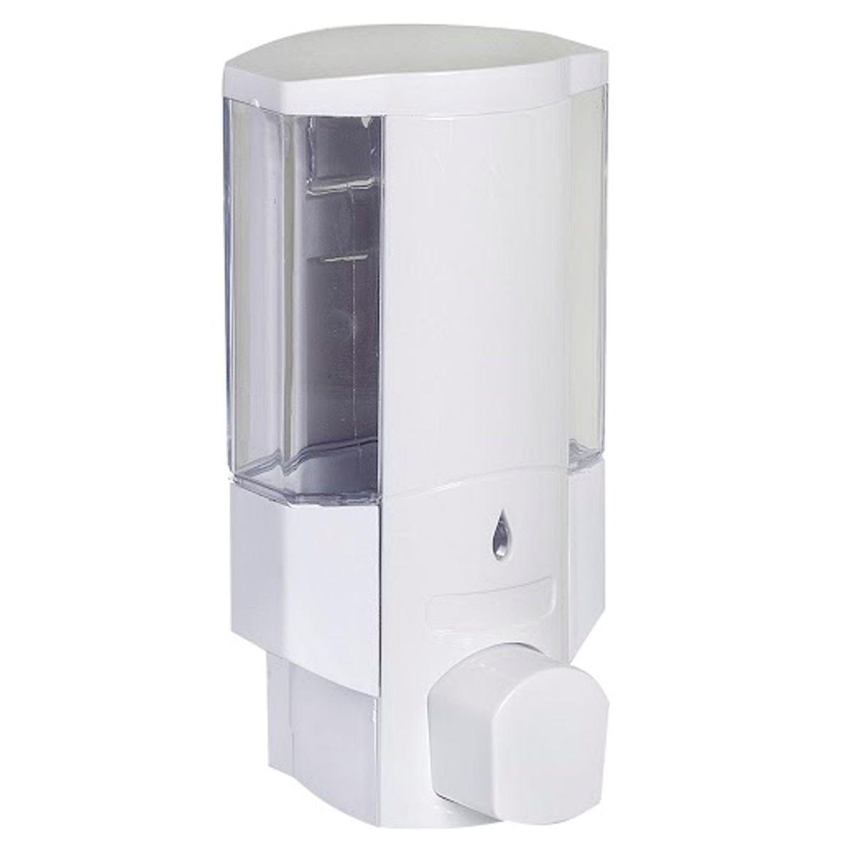 Диспенсер для жидкого мыла Vanstore, 380 млSWP-0700WH-AНастенный диспенсер для жидкого мыла Vanstore изготовлен из прочного пластика с прозрачным окошком. Надежен и удобен в использовании. Крепится на шурупах (в комплекте). Подходит как для домашнего, так и для профессионального использования.