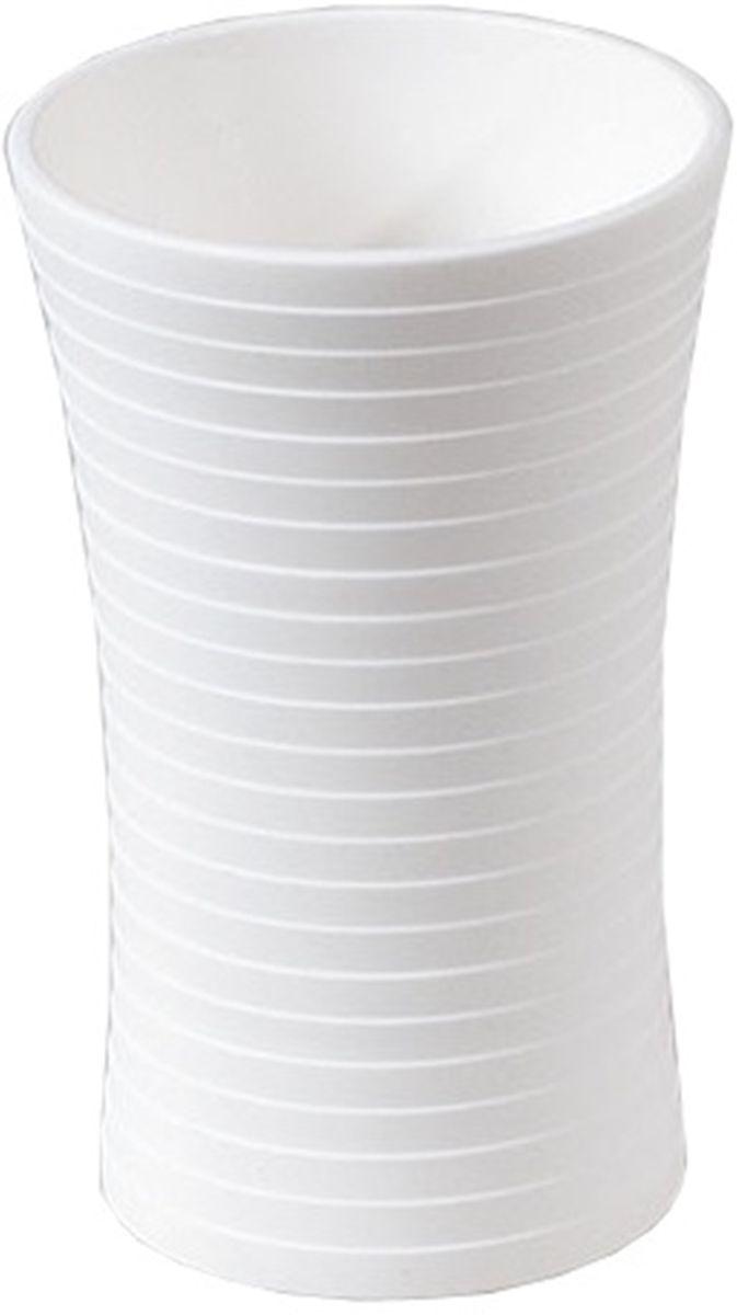 Стакан для ванной Vanstore Style, цвет: белыйBL505Style набор аксессуаров из пластика белого цвета