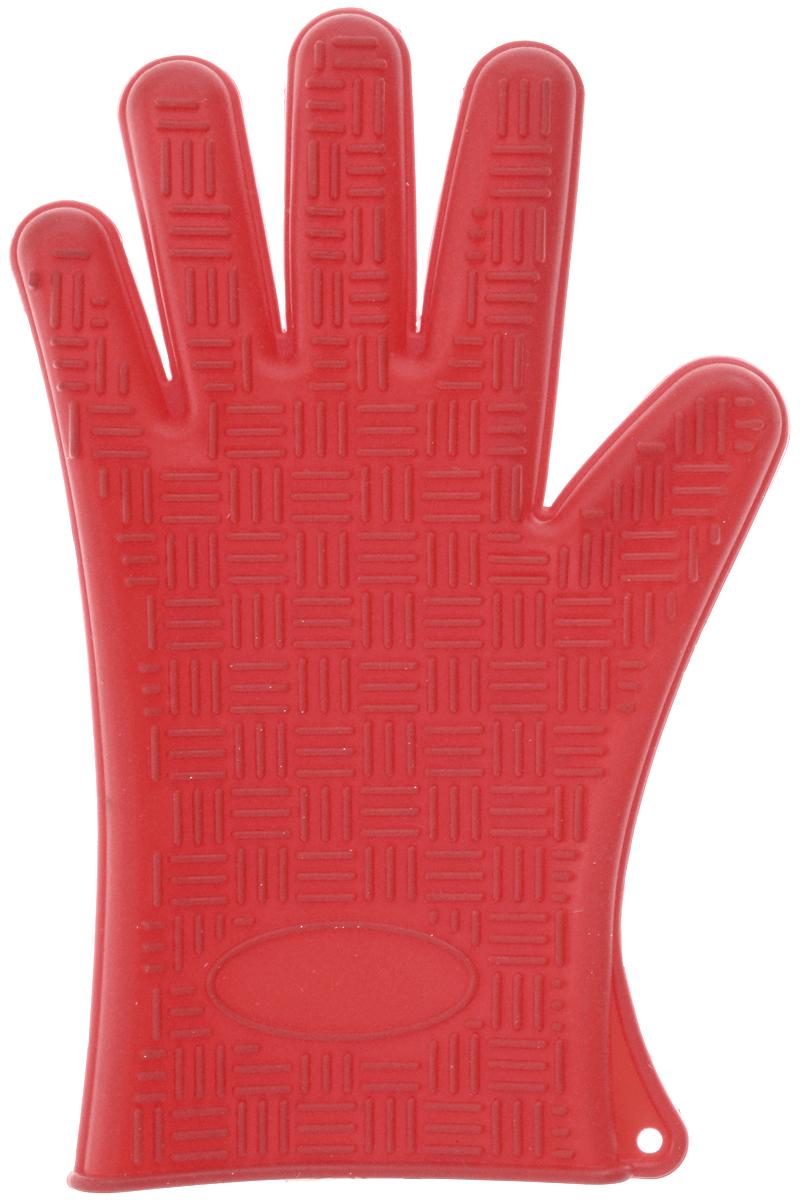 Прихватка-перчатка Mayer & Boch, силиконовая, цвет: красный, 26,5 х 17 смVT-1520(SR)Необыкновенно яркая и практичная прихватка-перчатка Mayer & Boch выполнена из мягкого и прочного силикона. Очень приятная на ощупь, невероятно гибкая, выдерживает большой перепад температур от -60°C до +230°С. Удобно и прочно сидит на руке. С помощью такой прихватки ваши руки будут защищены от ожогов, когда вы будете ставить в печь или доставать из нее выпечку.