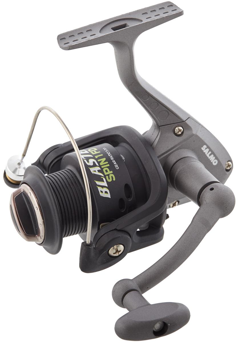 Катушка безынерционная Salmo Blaster SPIN 1 40FD, цвет: серый95940-905Бюджетная серия катушек BLASTER предназначена, в первую очередь, для начинающих рыболовов. Эти катушки могут с успехом использоваться у опытных рыболовов как резервные катушки или для комплектации поплавочных удилищ и донных снастей. - Тормоз фрикционный передний FD- 1 подшипник шариковый- Включатель антиреверса флажковый нижний- Корпус карбопластовый- Шпуля основная пластиковая (графитовая)- Рукоятка:- с винтовым типом фиксации - с возможностью право/левосторонней установки